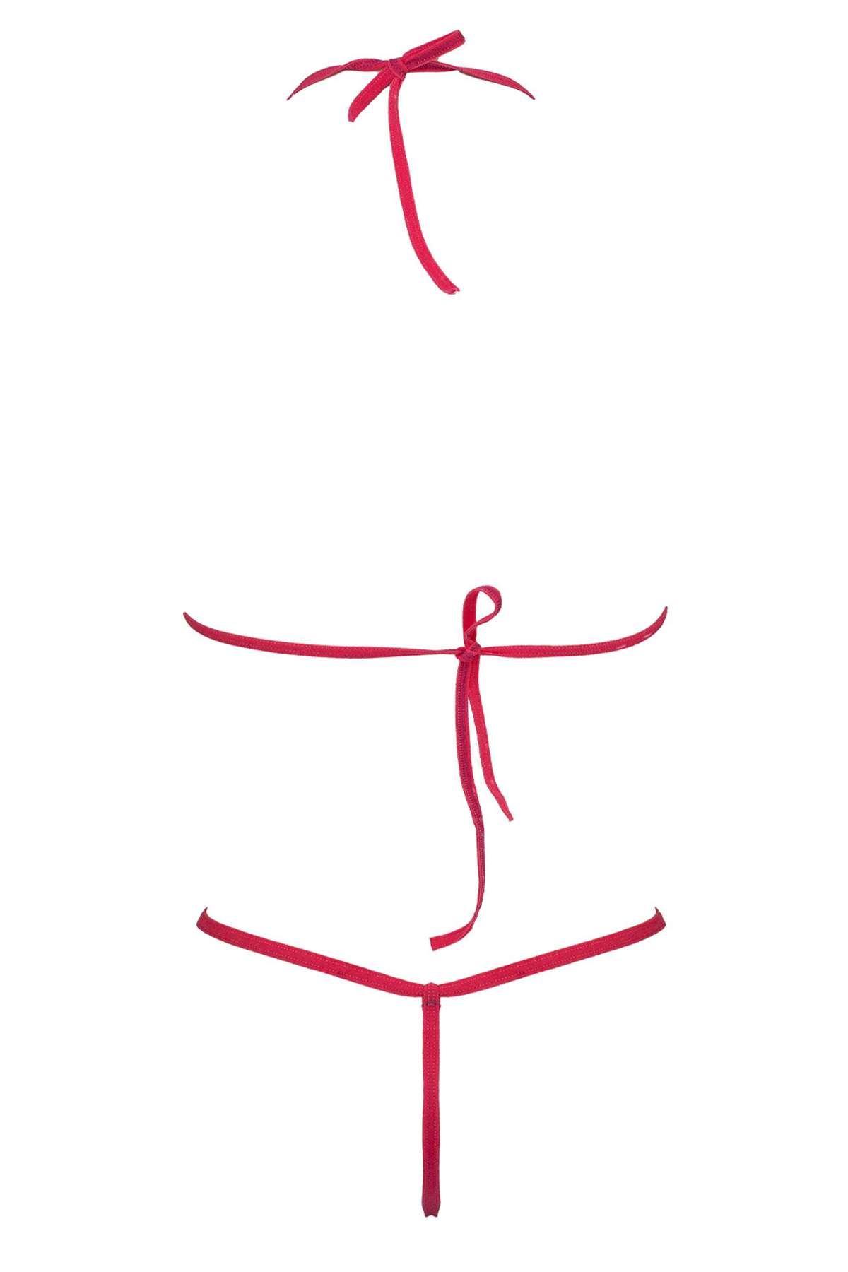 Dantel Sütyen Tanga Takım Fuşya - 1160.1364. Toptan