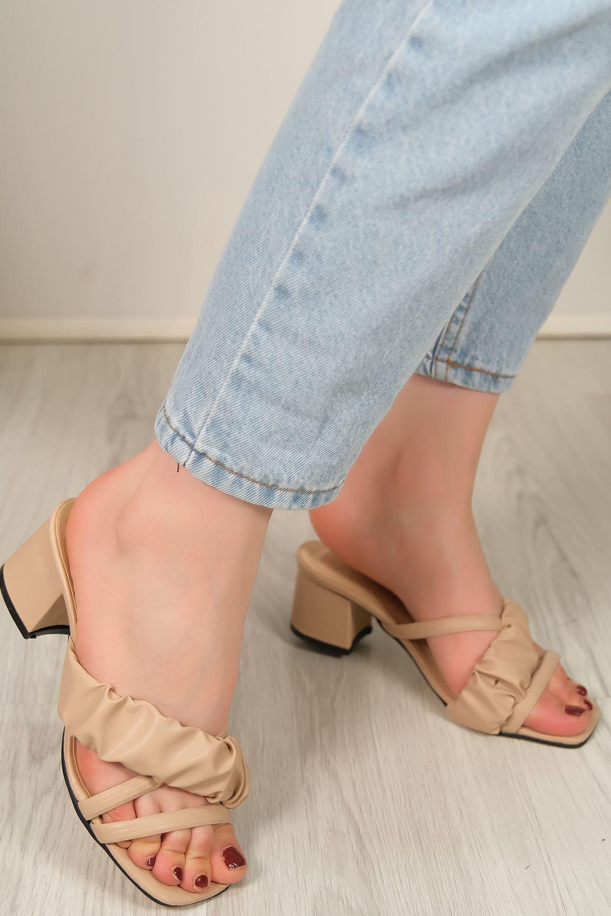 5 Cm Topuklu Ayakkabı Ten - 5612.1370.
