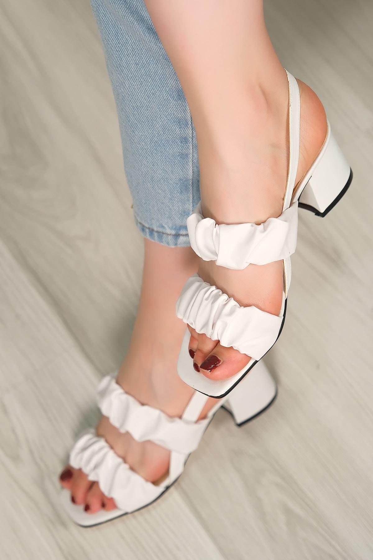 5 Cm Topuklu Ayakkabı Beyaz - 5620.1370.