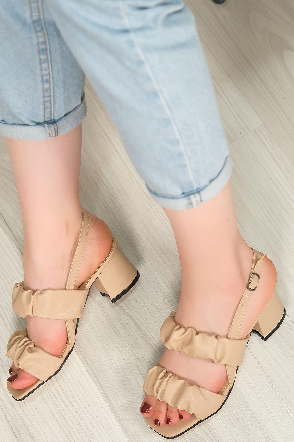 5 Cm Topuklu Ayakkabı Ten - 5620.1370.