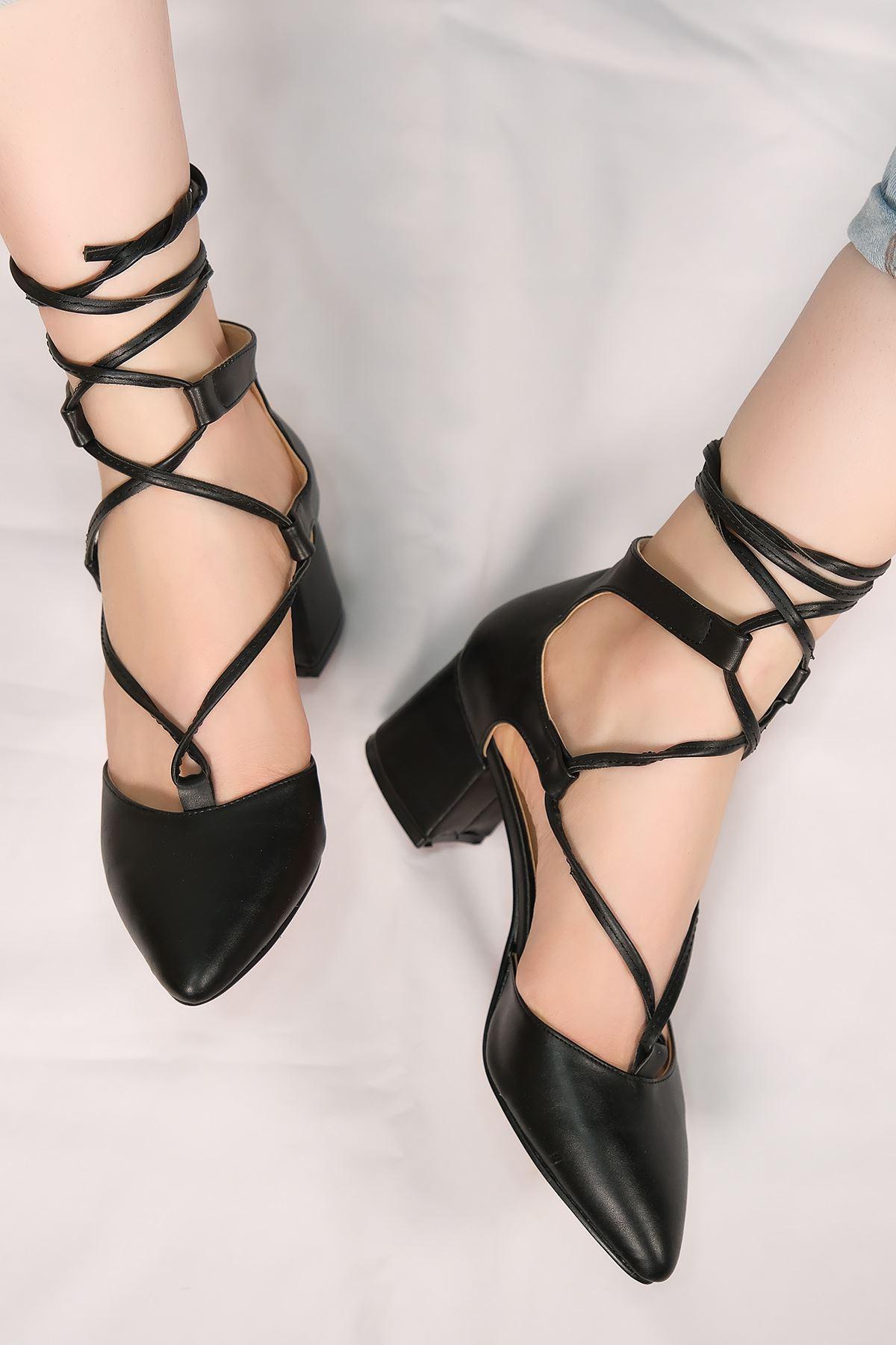 5 Cm Topuklu Ayakkabı Siyahderi - 5638.1371.