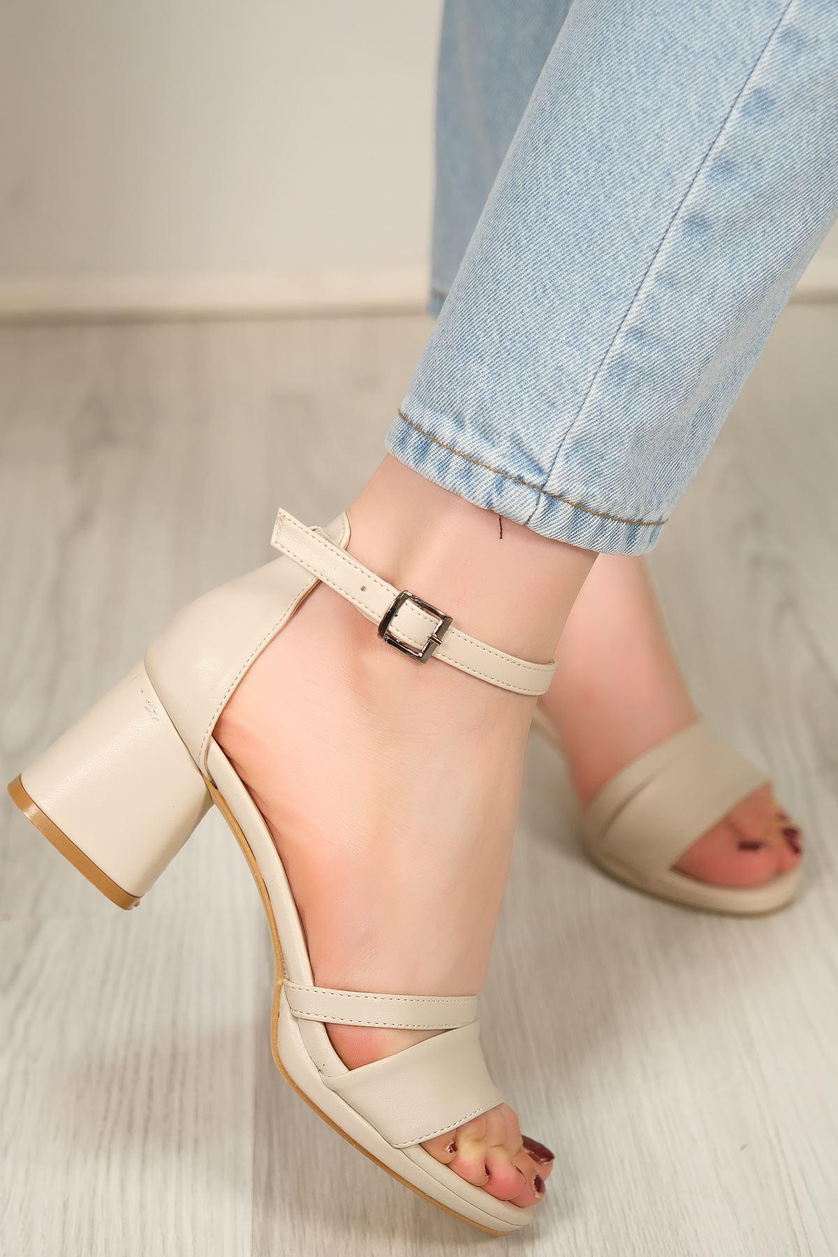 6 Cm Topuklu Ayakkabı Ten - 5643.264.