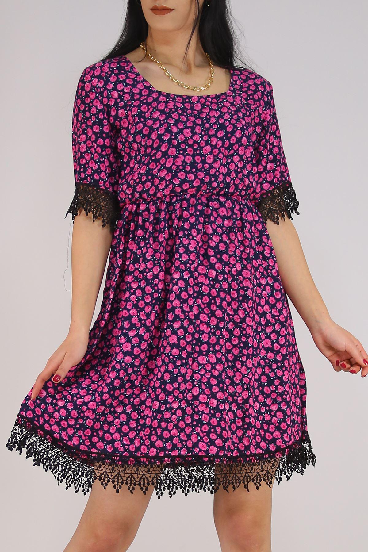 Güpür Garnili Elbise Lacifuşya - 5580.701.