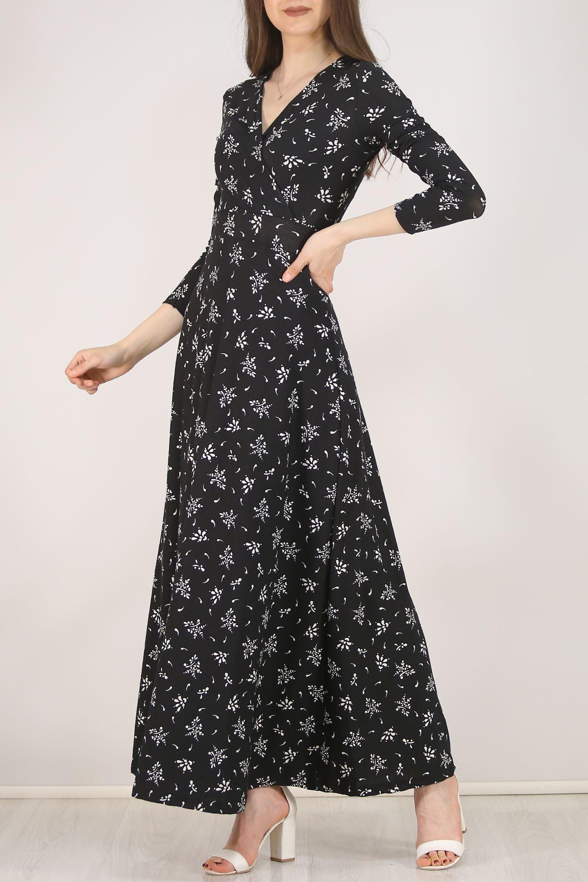 Çiçekli Elbise Beyazsiyah - 4987.716.