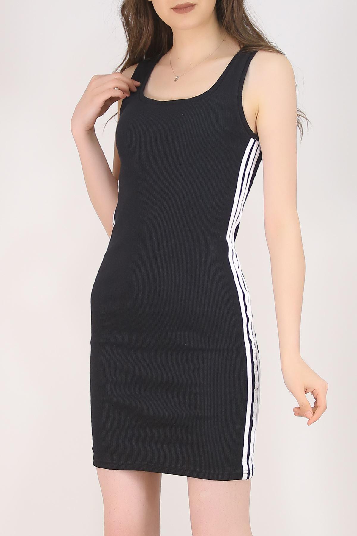 Kaşkorse Şeritli Elbise Siyah - 5693.316.