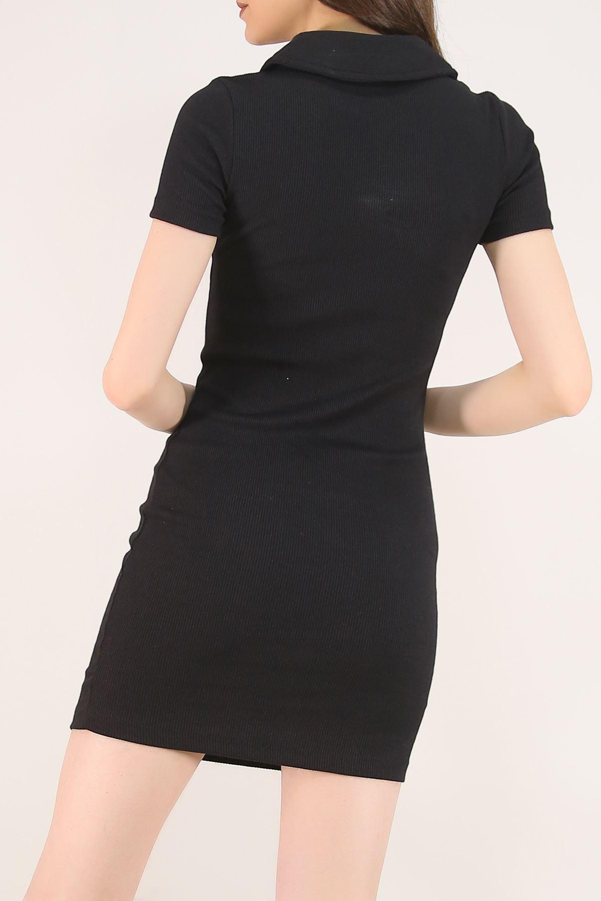 Kaşkorse Yakalı Elbise Siyah - 2392.159.