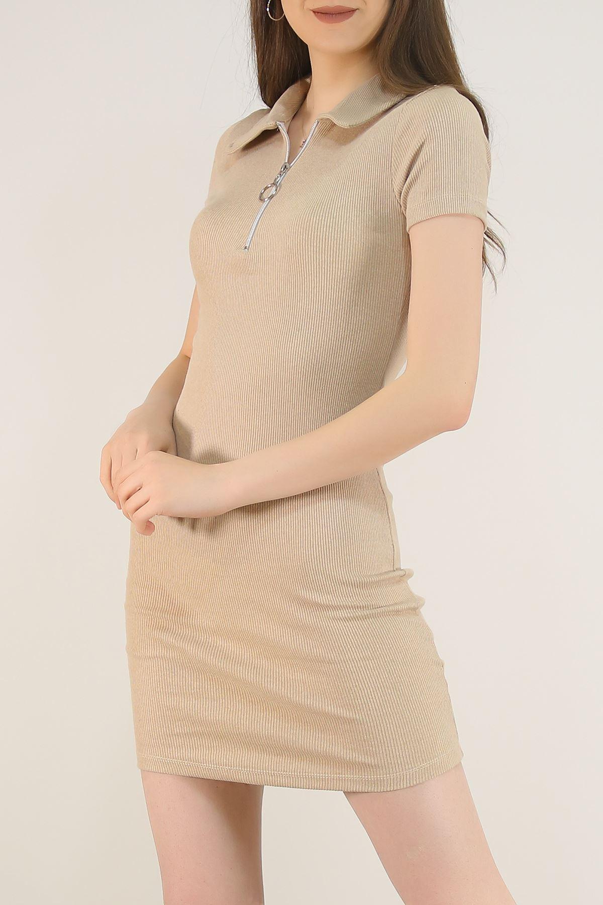 Kaşkorse Yakalı Elbise Taş - 2392.159.