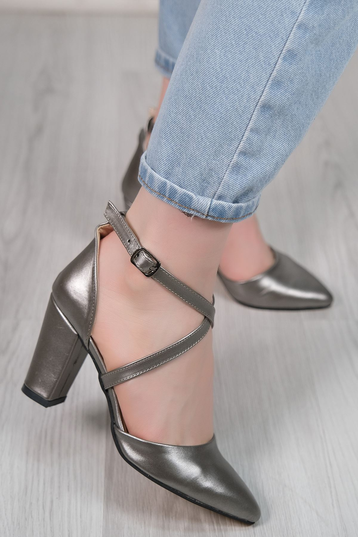 7 Cm Topuklu Ayakkabı Kurşun - 5179.264.