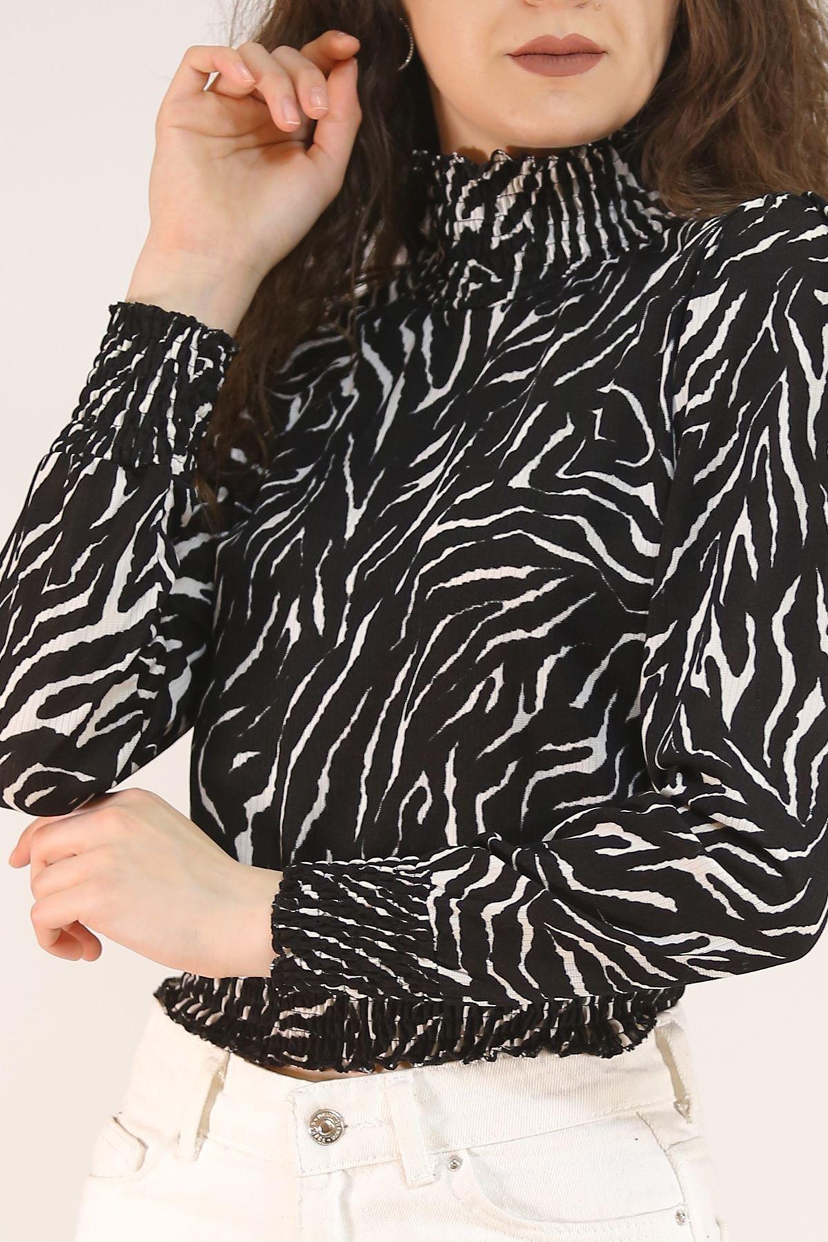 Yarım Balıkçı Bluz Zebra - 5205.224.