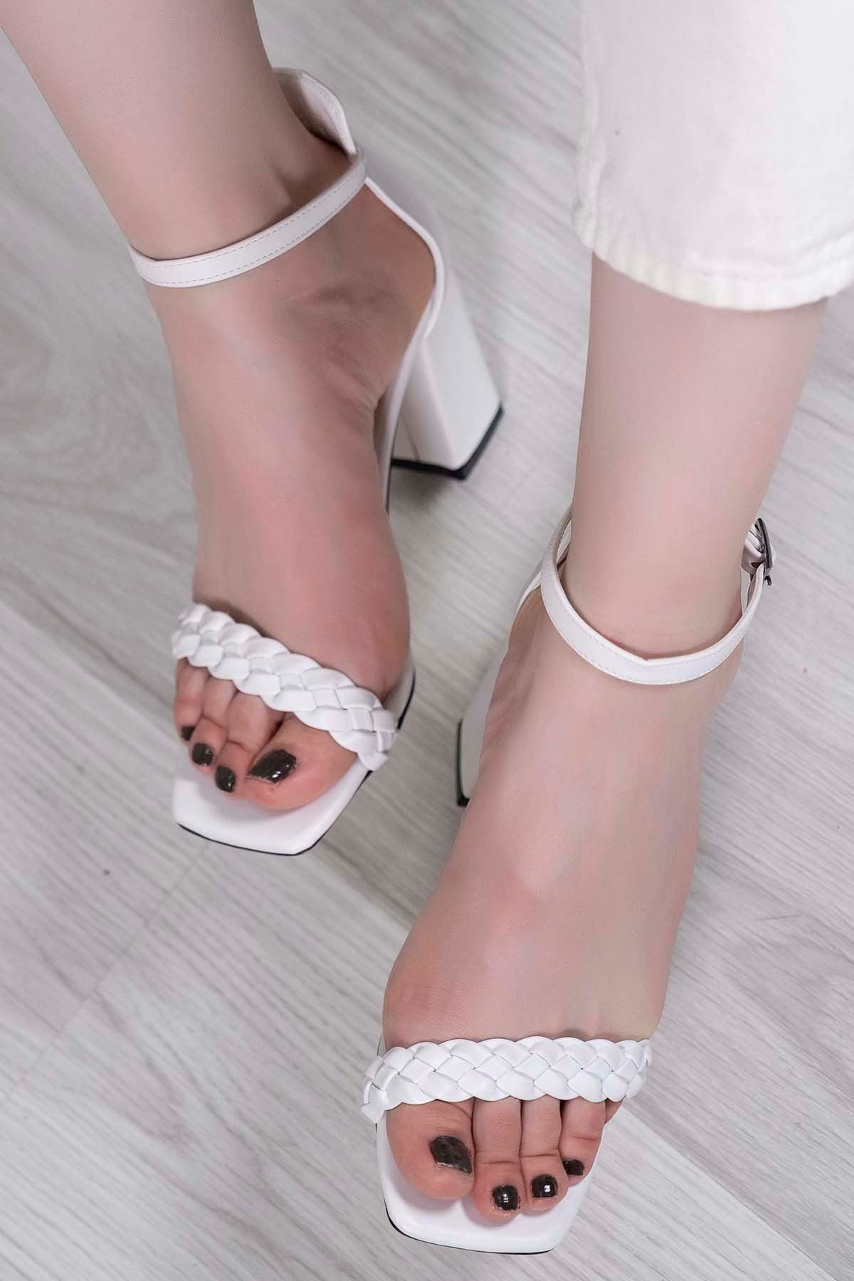 9 Cm Topuklu Ayakkabı Beyaz - 5745.264.