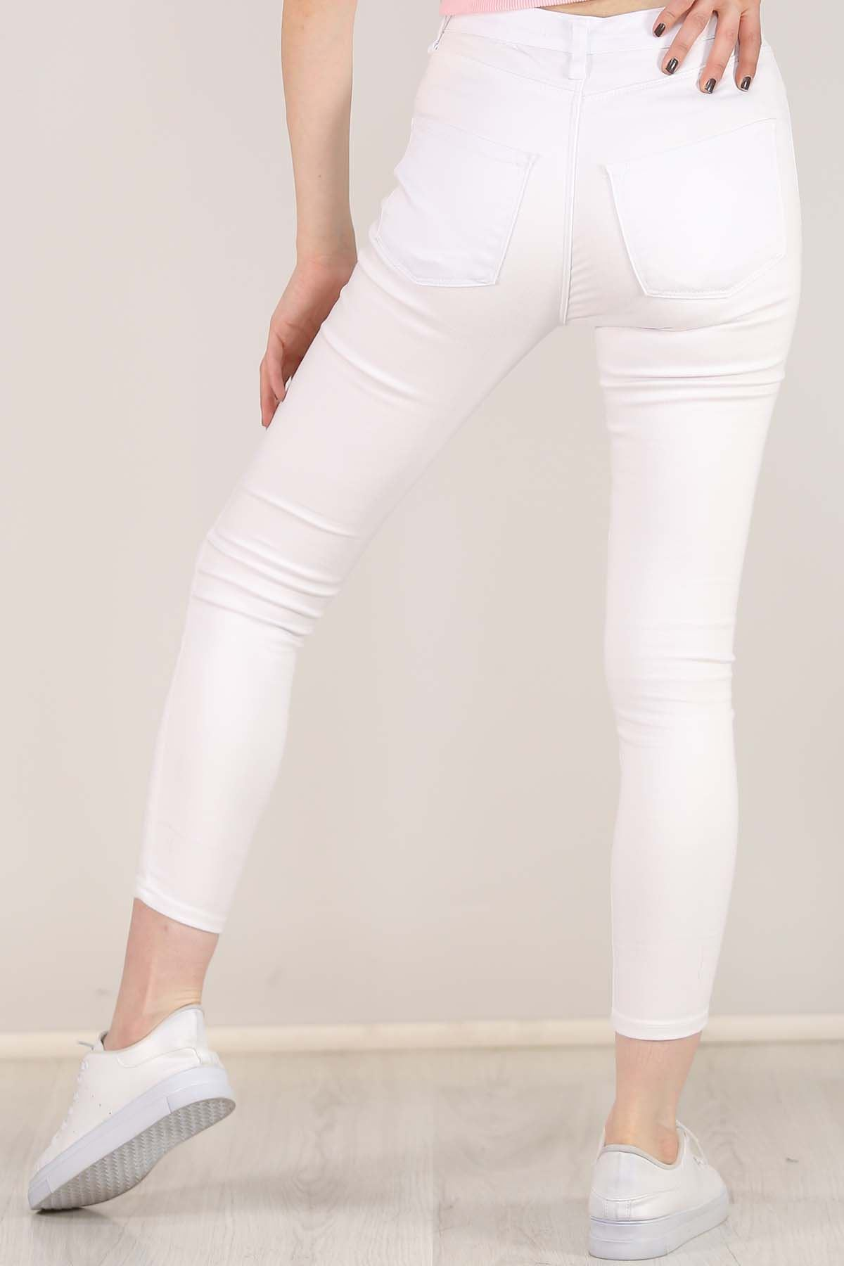 Cepli Dar Kot Pantolon Beyaz - 5766.299.