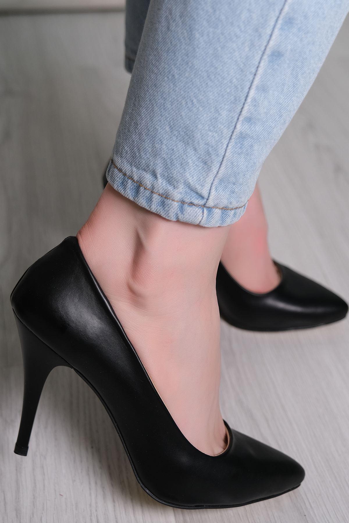 9Cm Topuklu Ayakkabı Siyahderi - 5177.264.