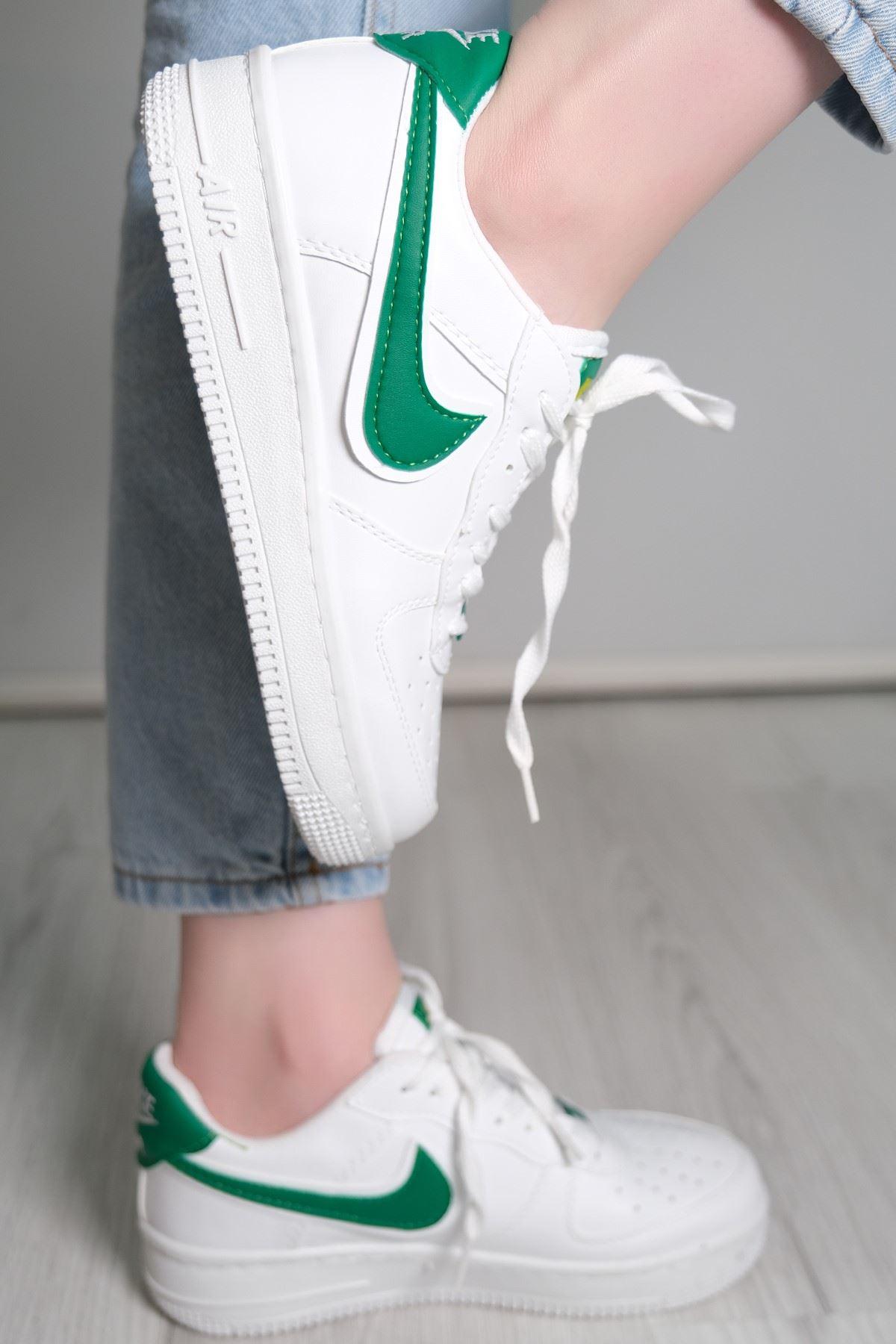 Kalın Taban Spor Ayakkabı Yeşil - 5779.1132.