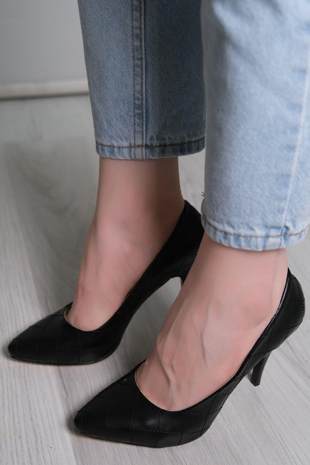 9 Cm Topuklu Ayakkabı Siyahderi - 5781.264.