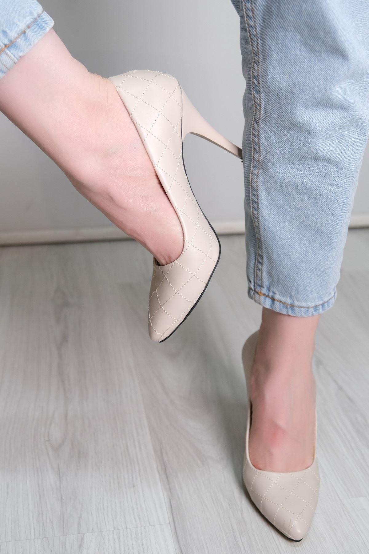 9 Cm Topuklu Ayakkabı Ten - 5781.264.