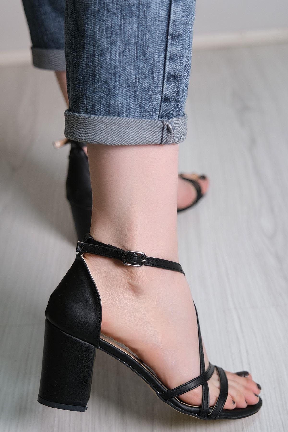 7 Cm Topulu Ayakkabı Siyahderi - 5786.264.