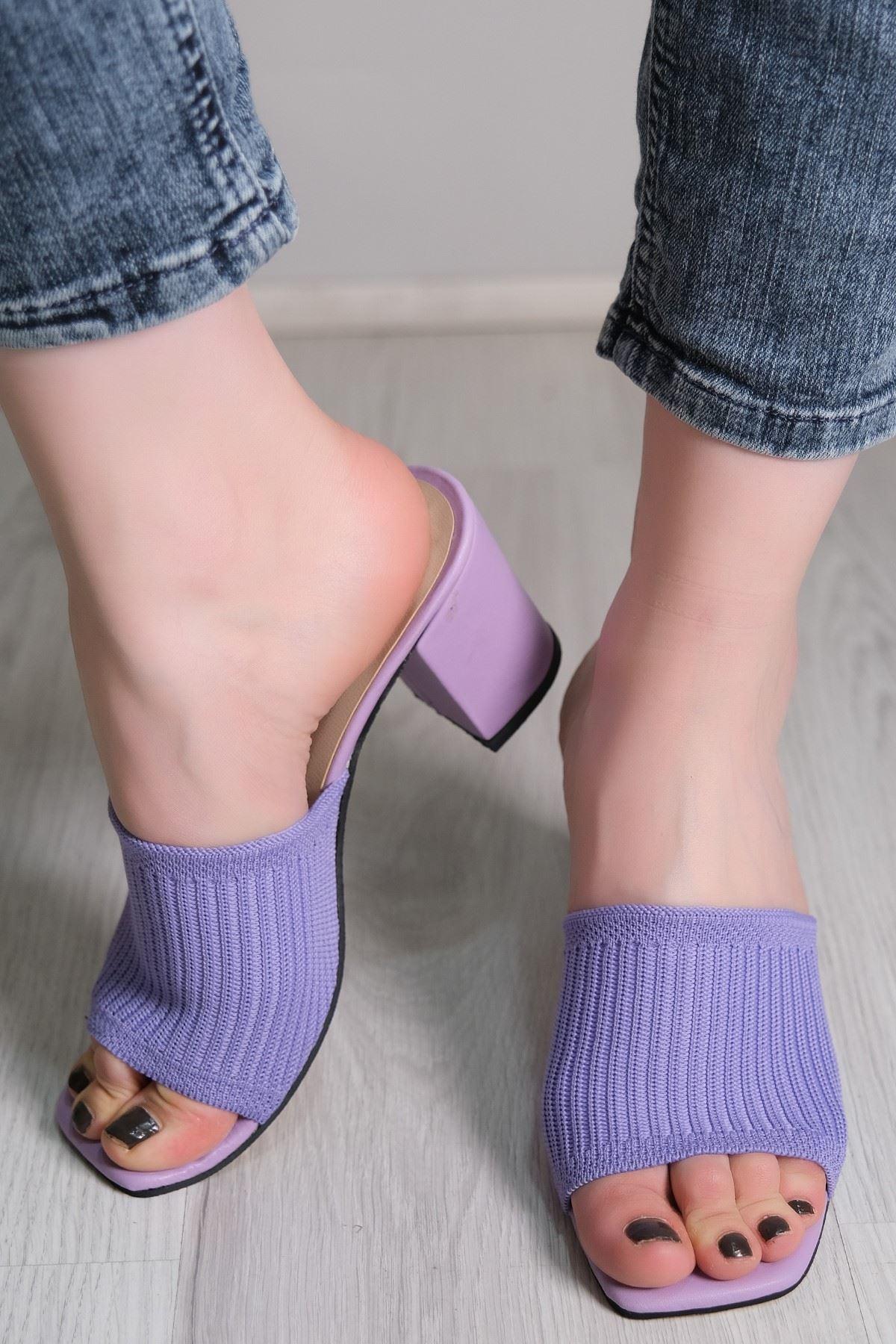7 Cm Topuklu Ayakkabı Lila - 5787.264.