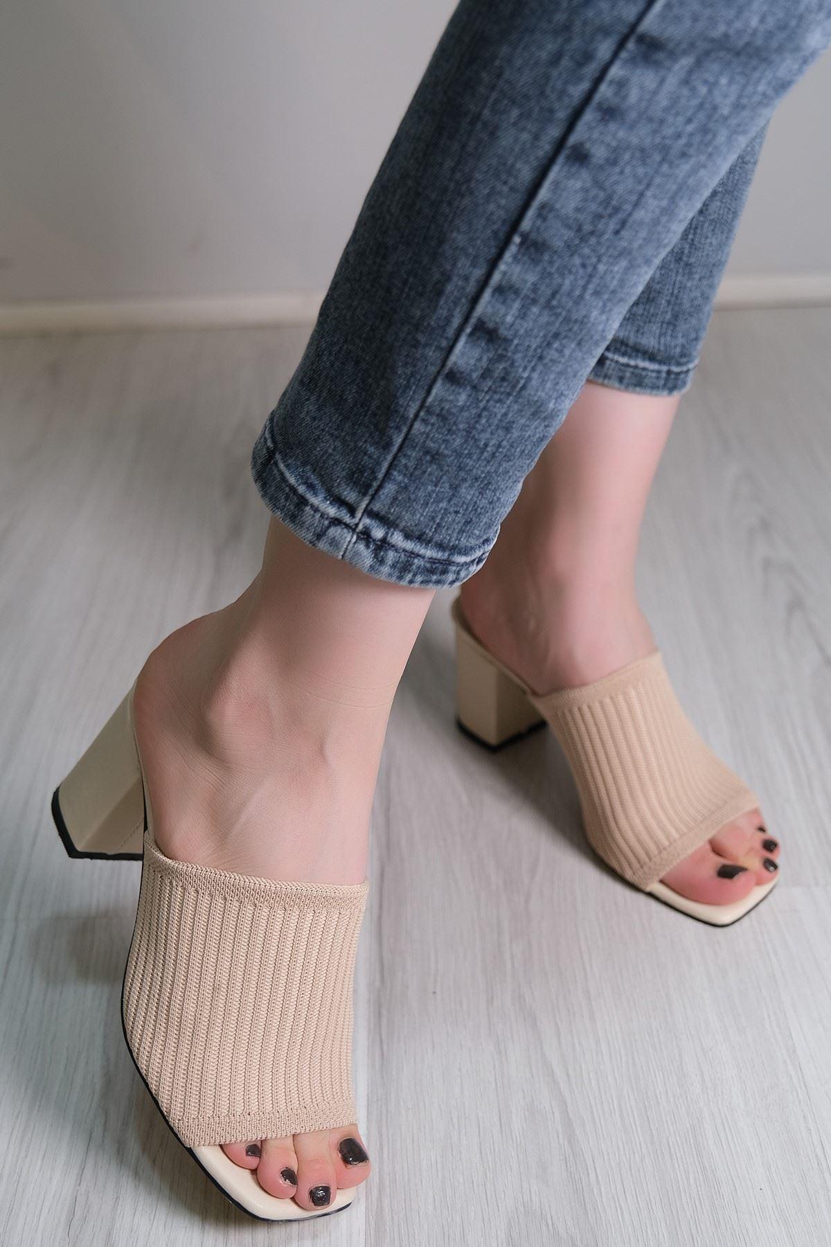 7 Cm Topuklu Ayakkabı Ten - 5787.264.