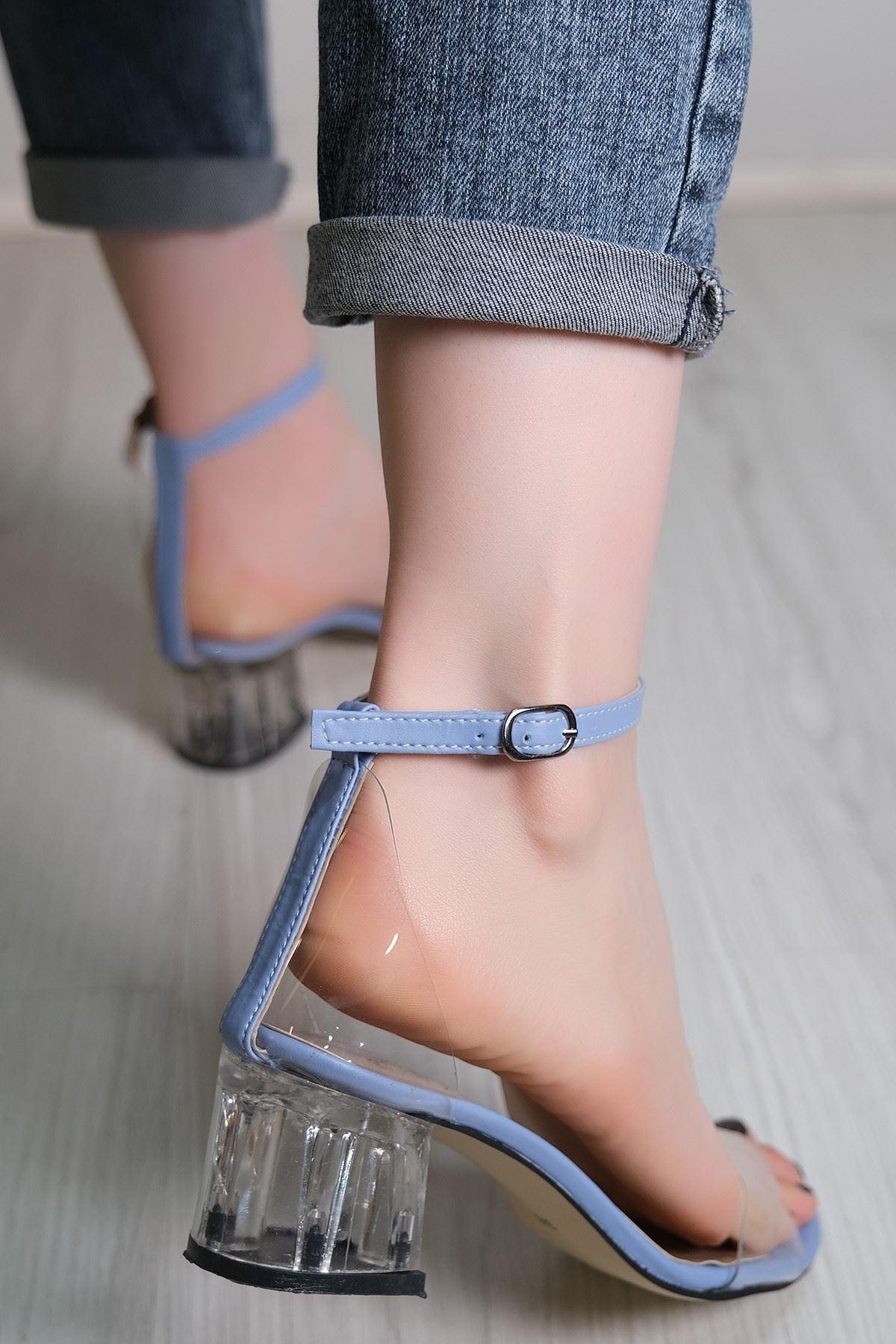 5 Cm Şeffaf Topuklu Ayakkabı Bebemavi - 5788.264.