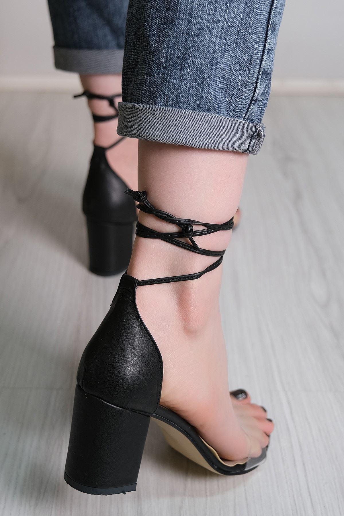 7 Cm Topuklu Ayakkabı Siyahderi - 5789.264.