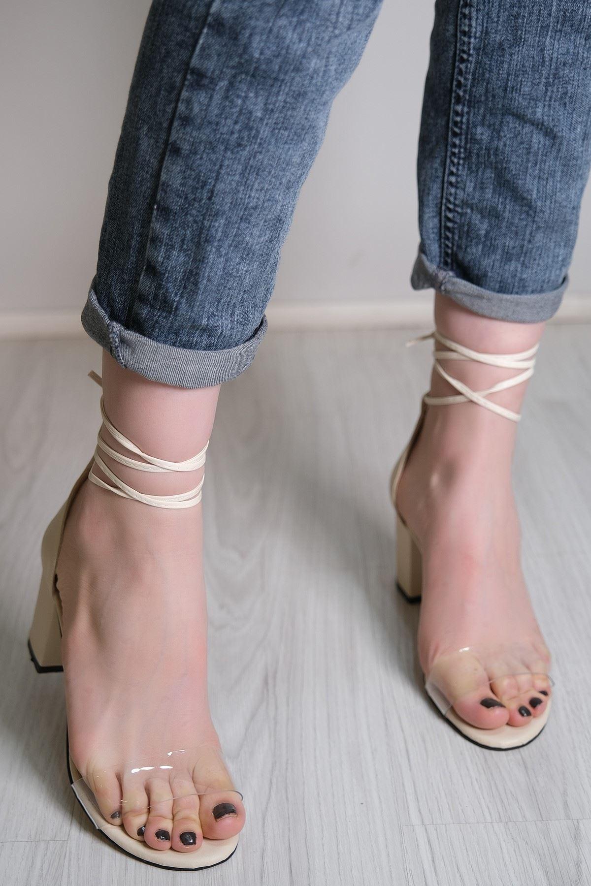 7 Cm Topuklu Ayakkabı Ten - 5789.264.