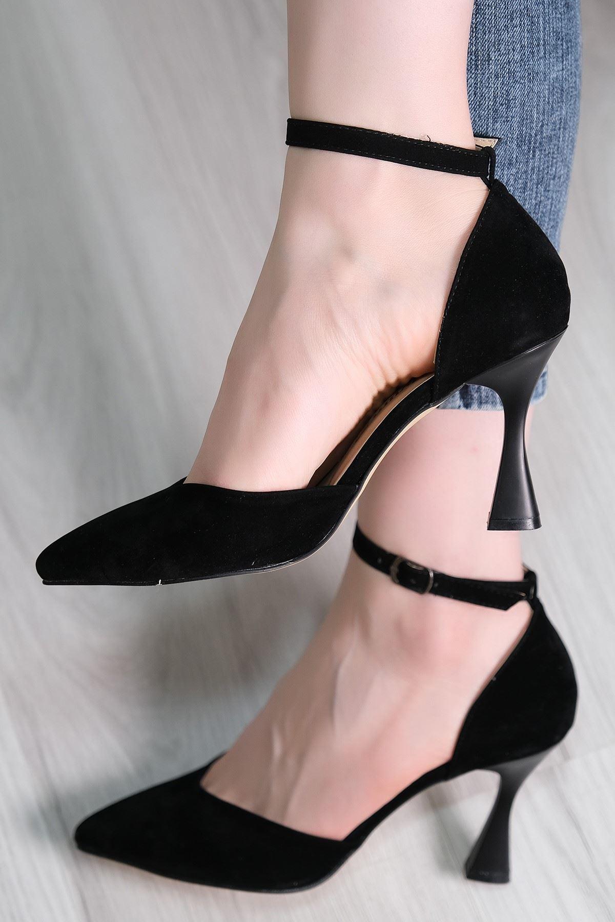 9 Cm Topuklu Ayakkabı Süetsiyah - 5793.264.