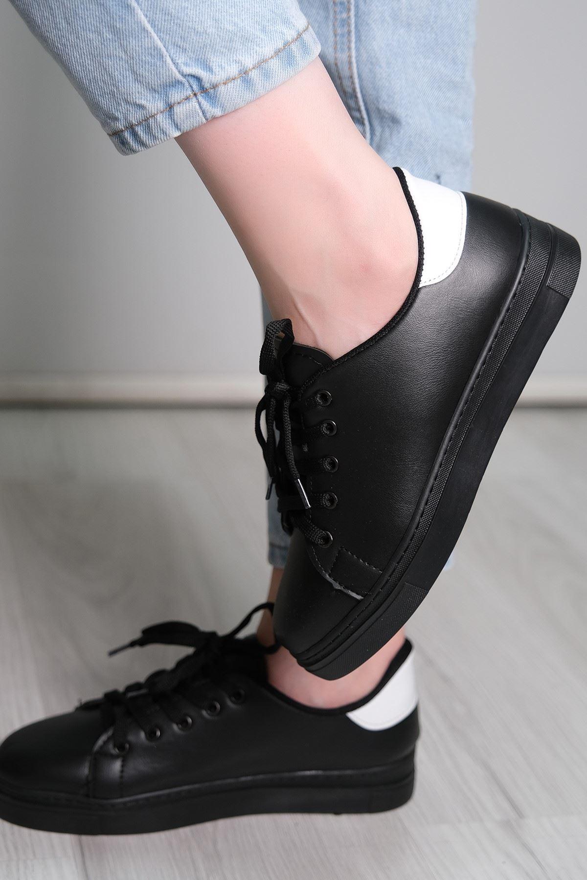 Kalın Tbn Günlük Ayakkabı Siyahbeyaz2 - 8585.264.