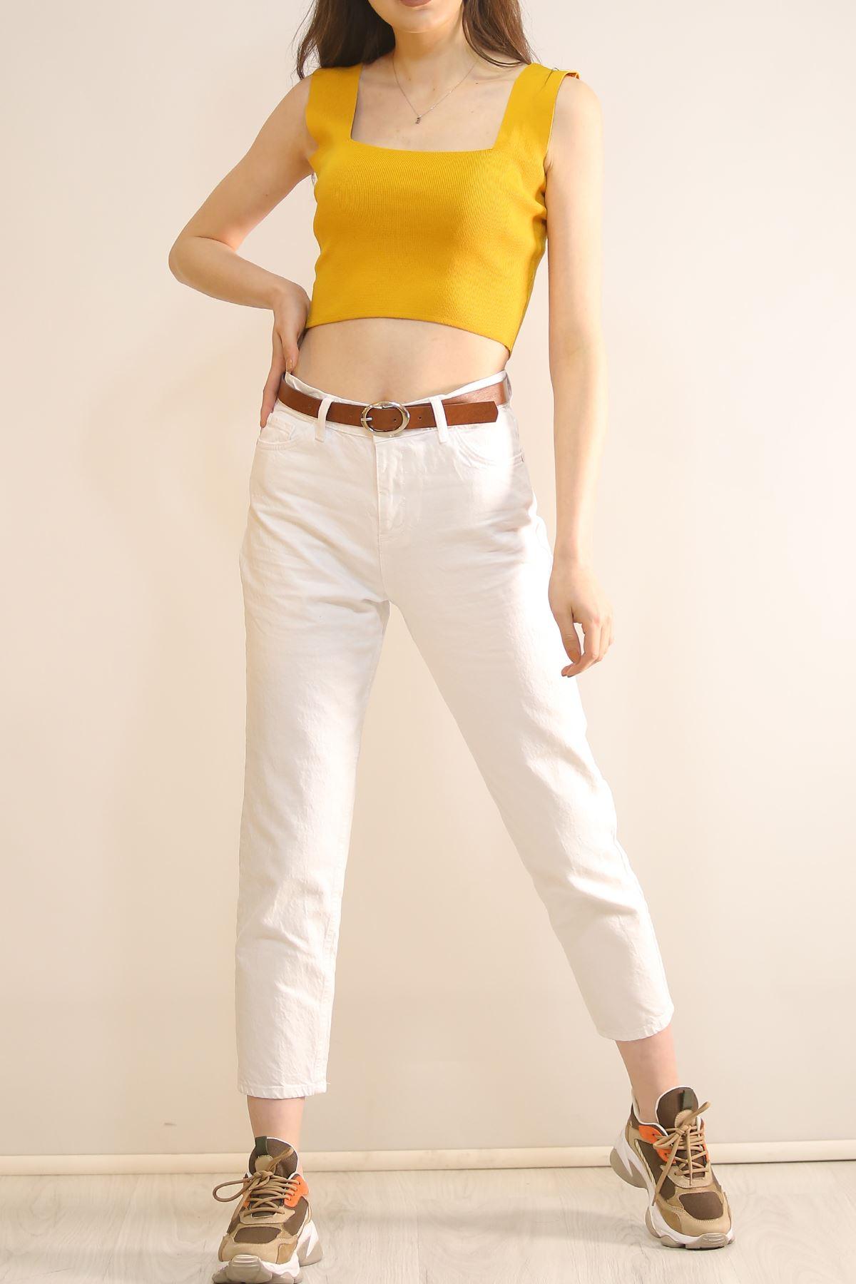 Mom Kot Pantolon Beyaz - 5215.299.