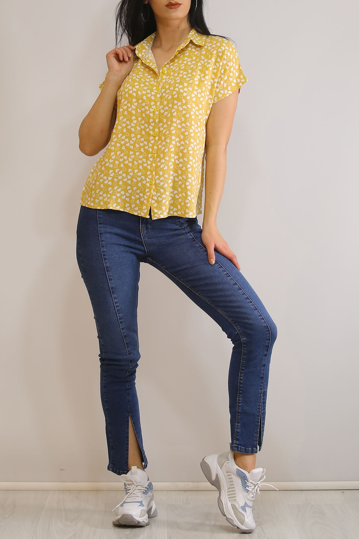 Yarasa Kol Gömlek Sarı - 1546.1095.