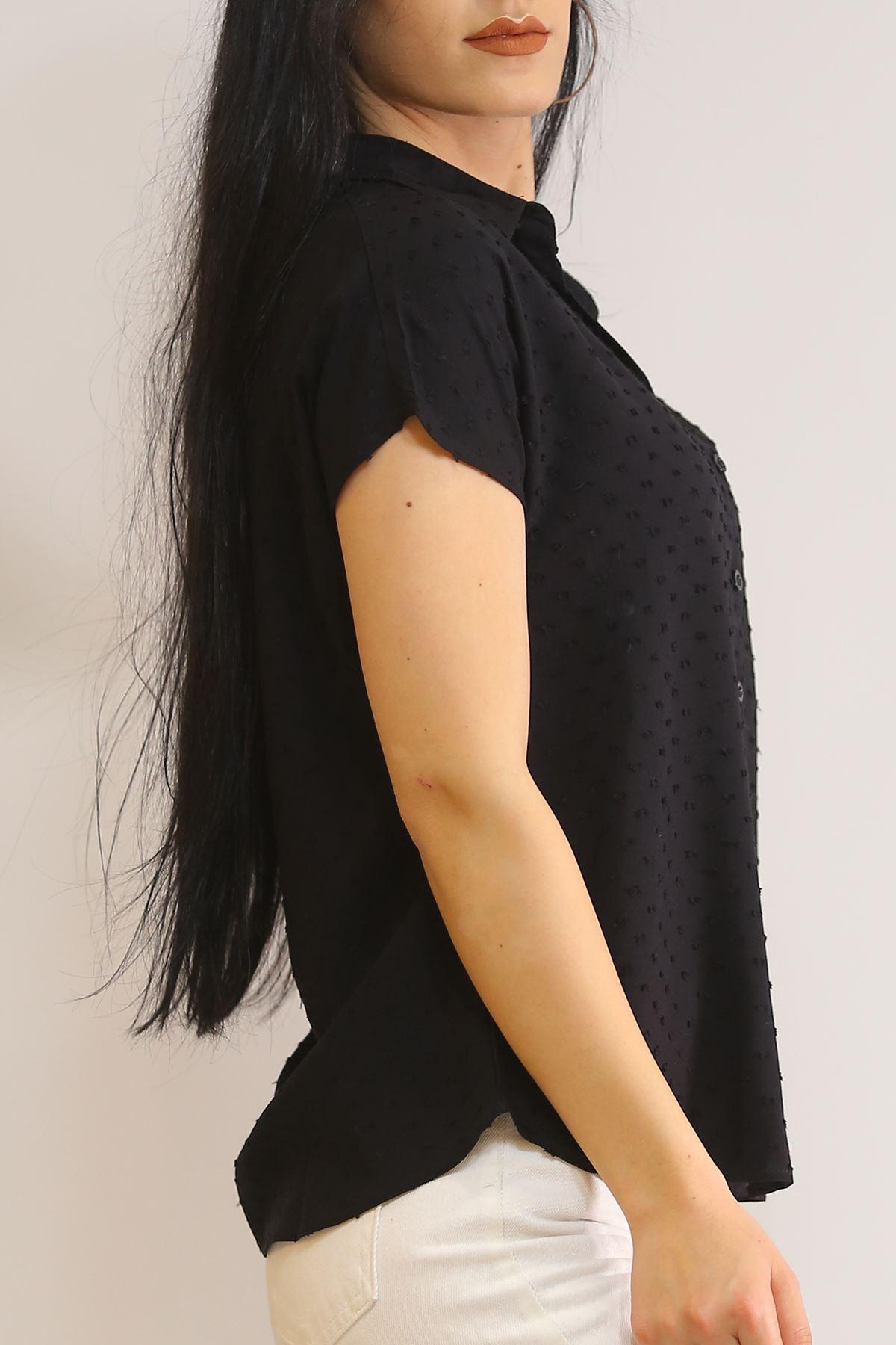 Yarasa Kol Gömlek Siyah - 1546.1095.