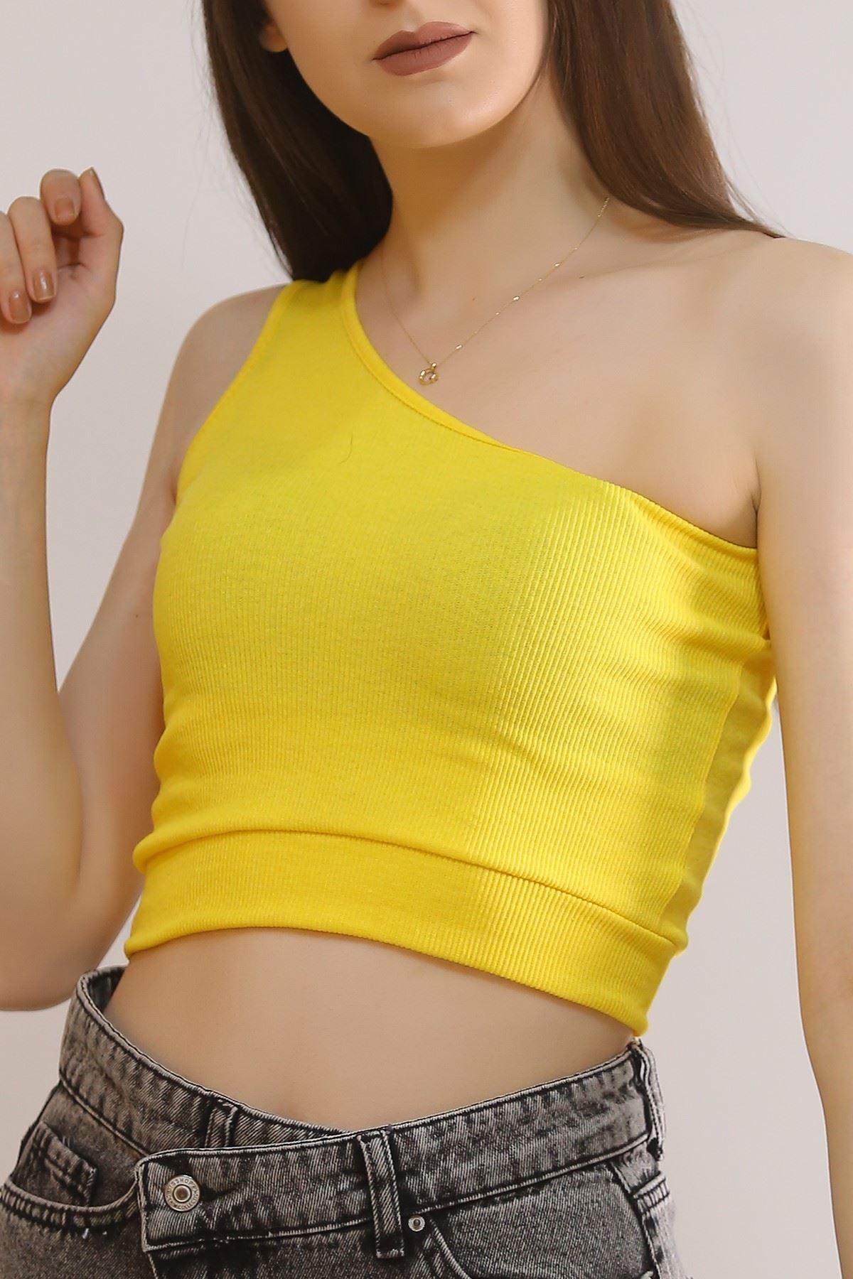 Tek Omuz Bluz Sarı - 5310.1092.