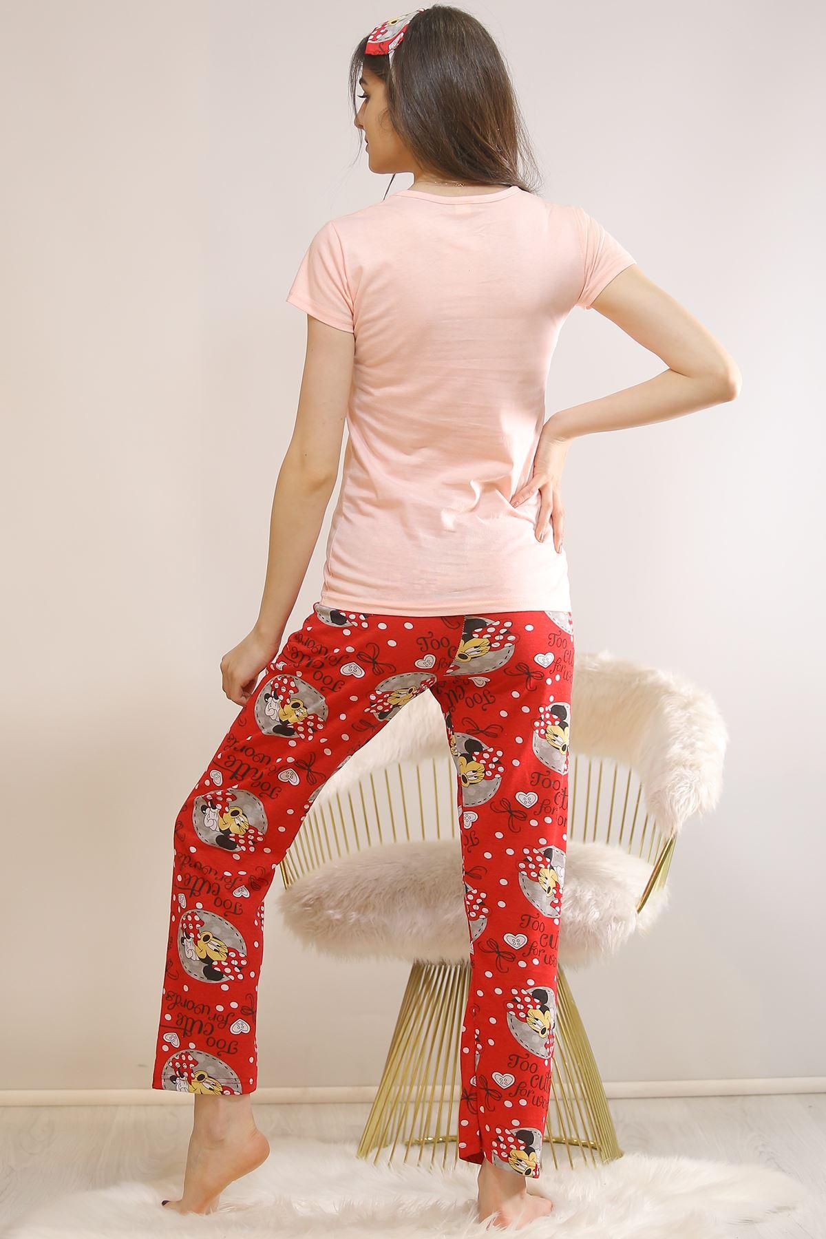 Baskılı Pijama Takımı Pudra - 5813.102.