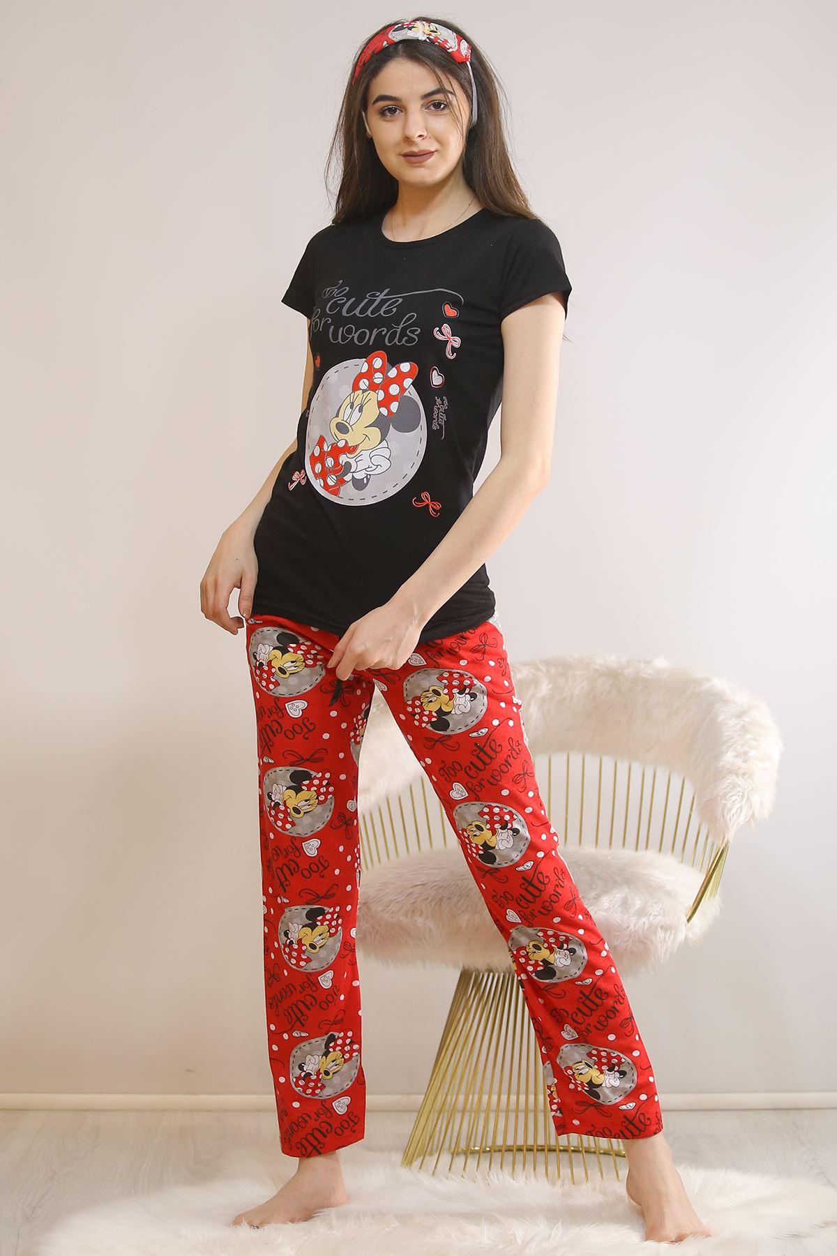 Baskılı Pijama Takımı Siyah - 5813.102.
