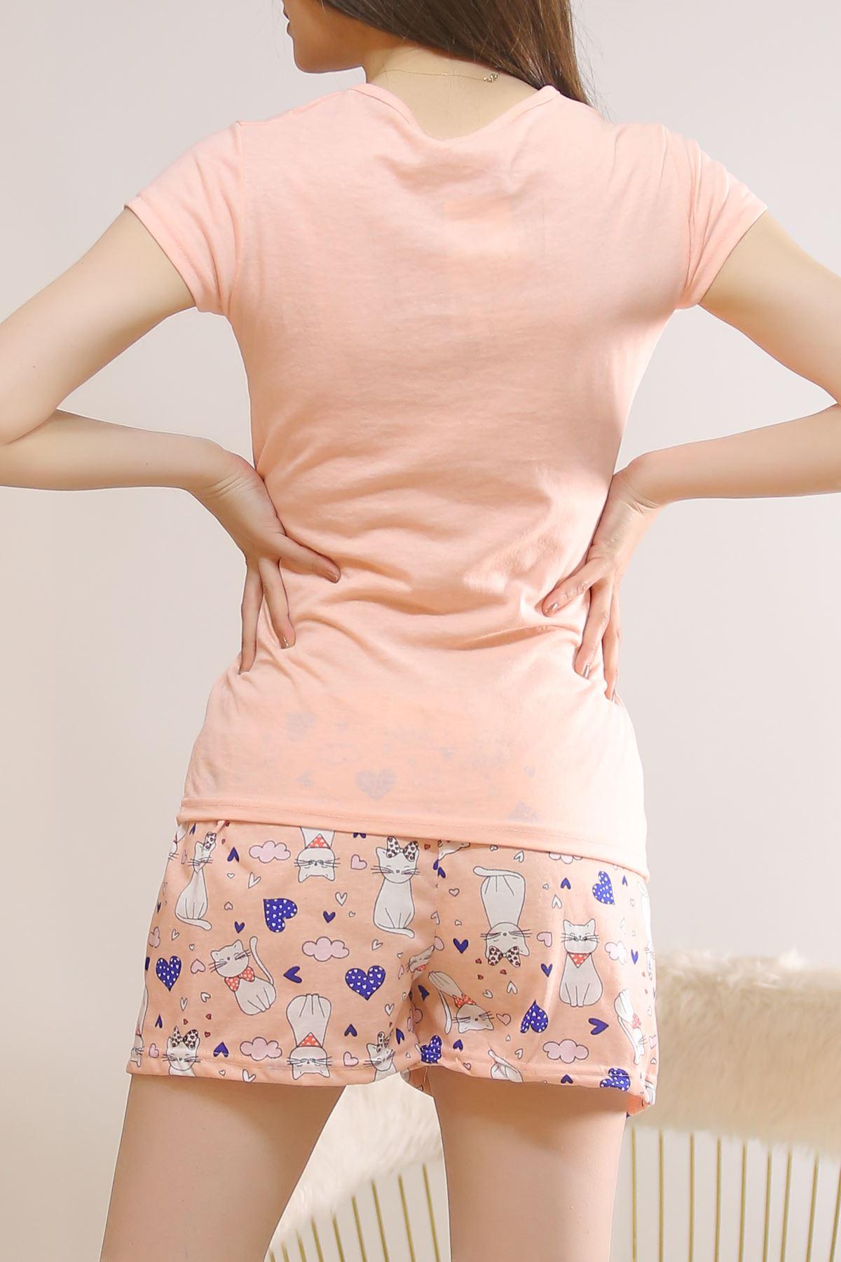 Şortlu Pijama Takımı Pudra - 5814.102.