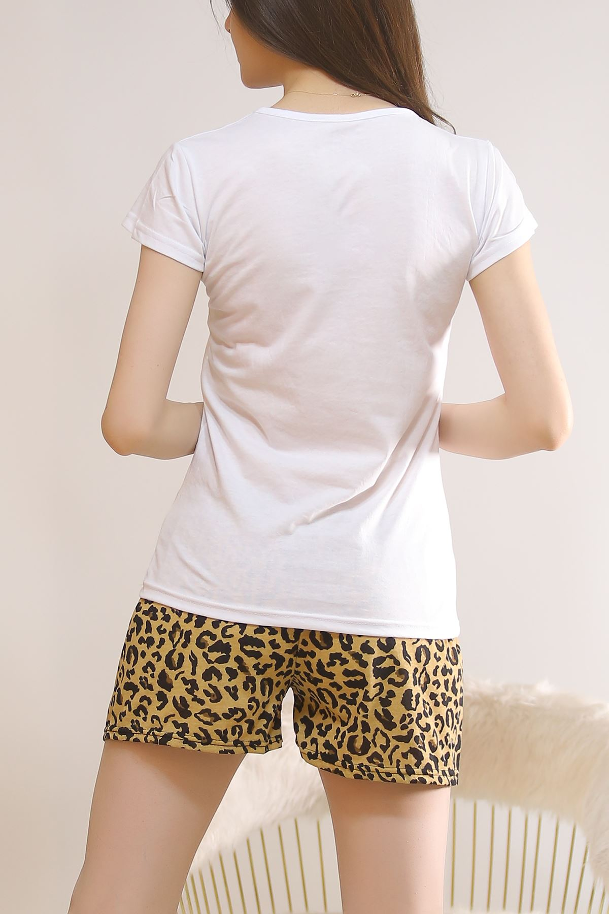 Şortlu Pijama Takımı Beyaz - 5815.102.
