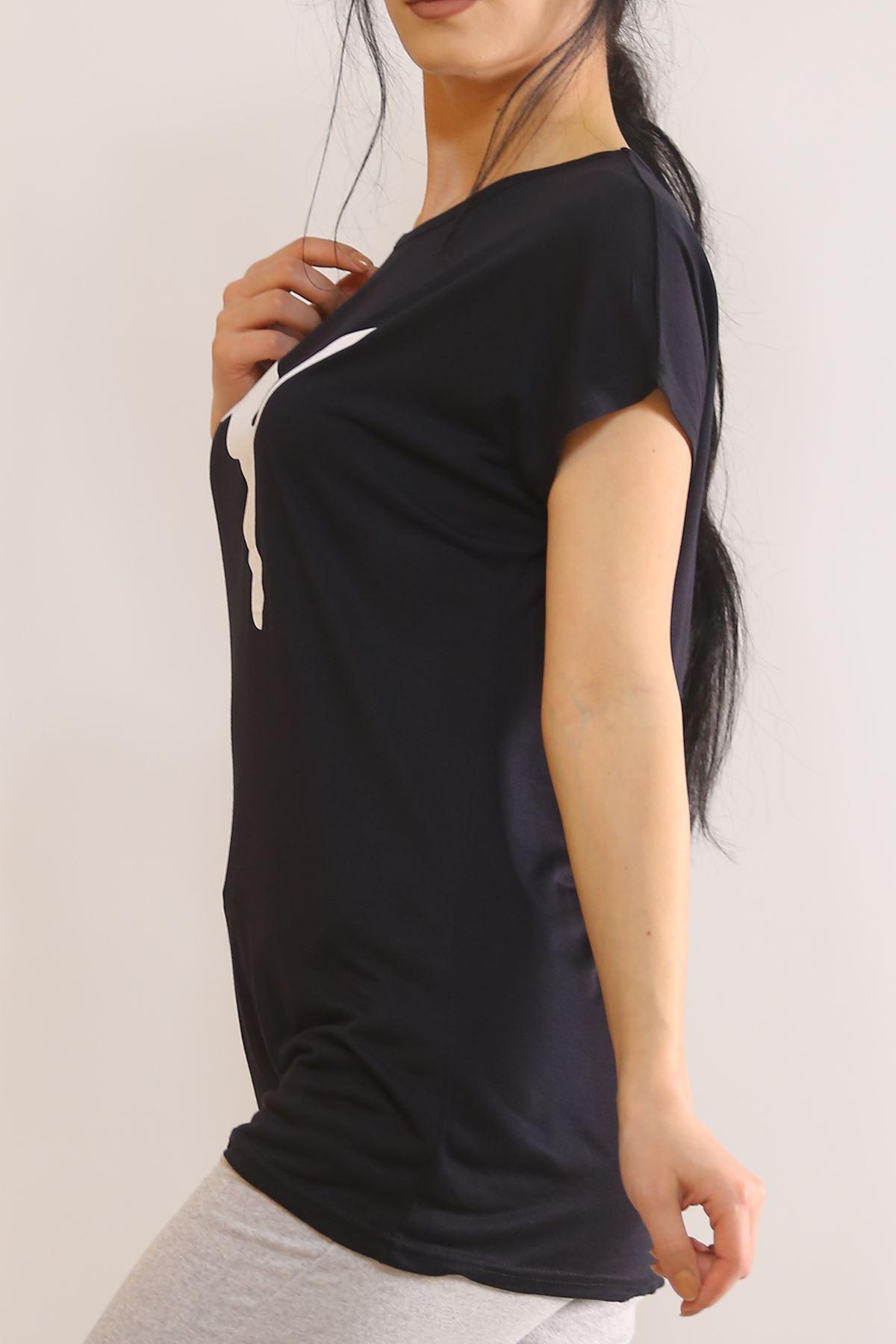 Baskılı Tişört Siyah - 5818.102.