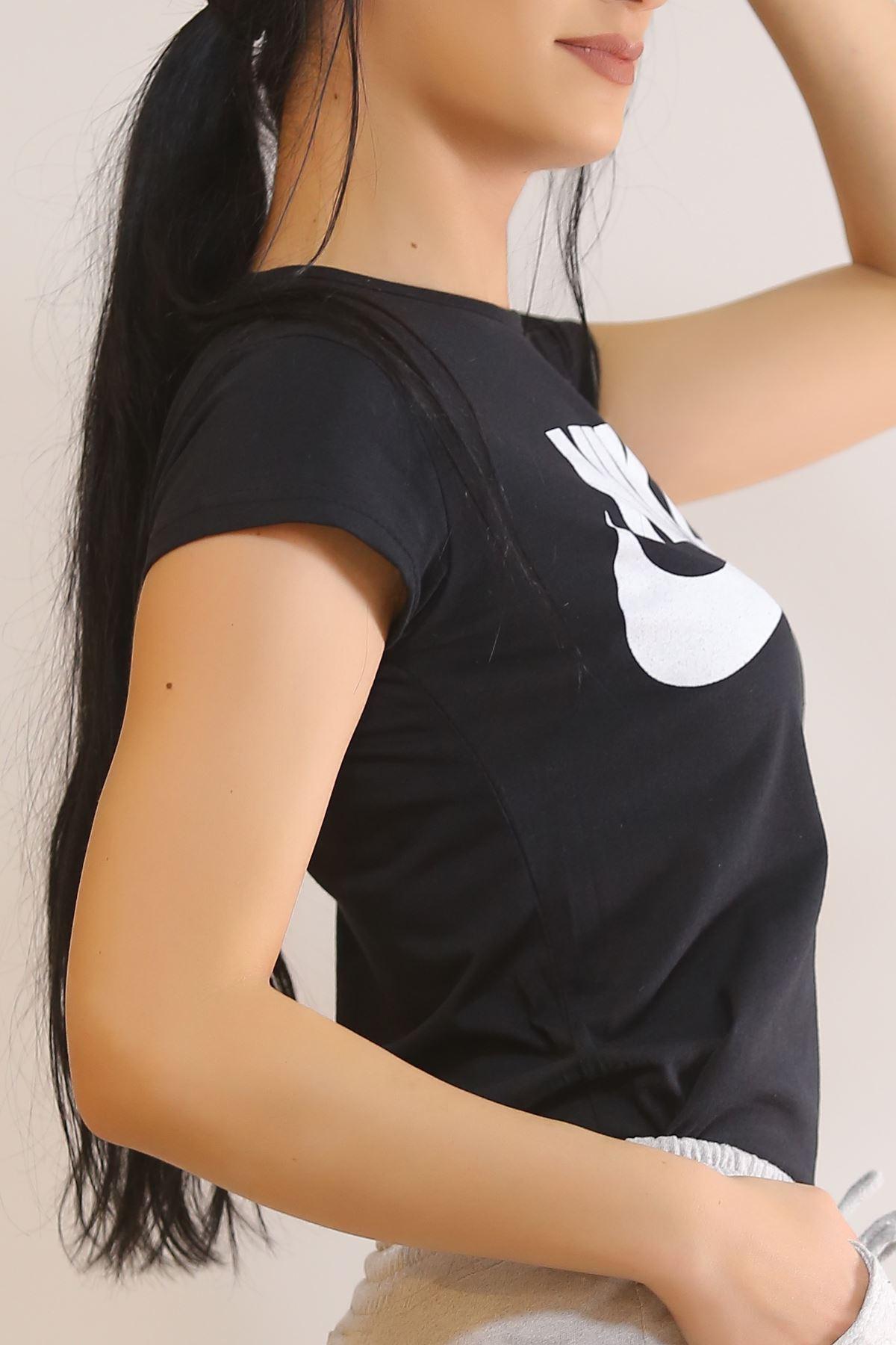 Baskılı Tişört Siyah - 5820.102.
