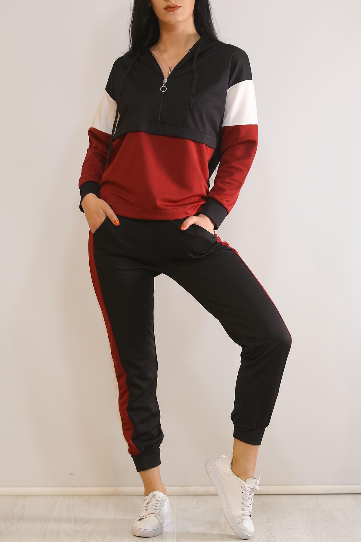 Kadın Eşofman Takımı Siyahbordo - 5325.1286.