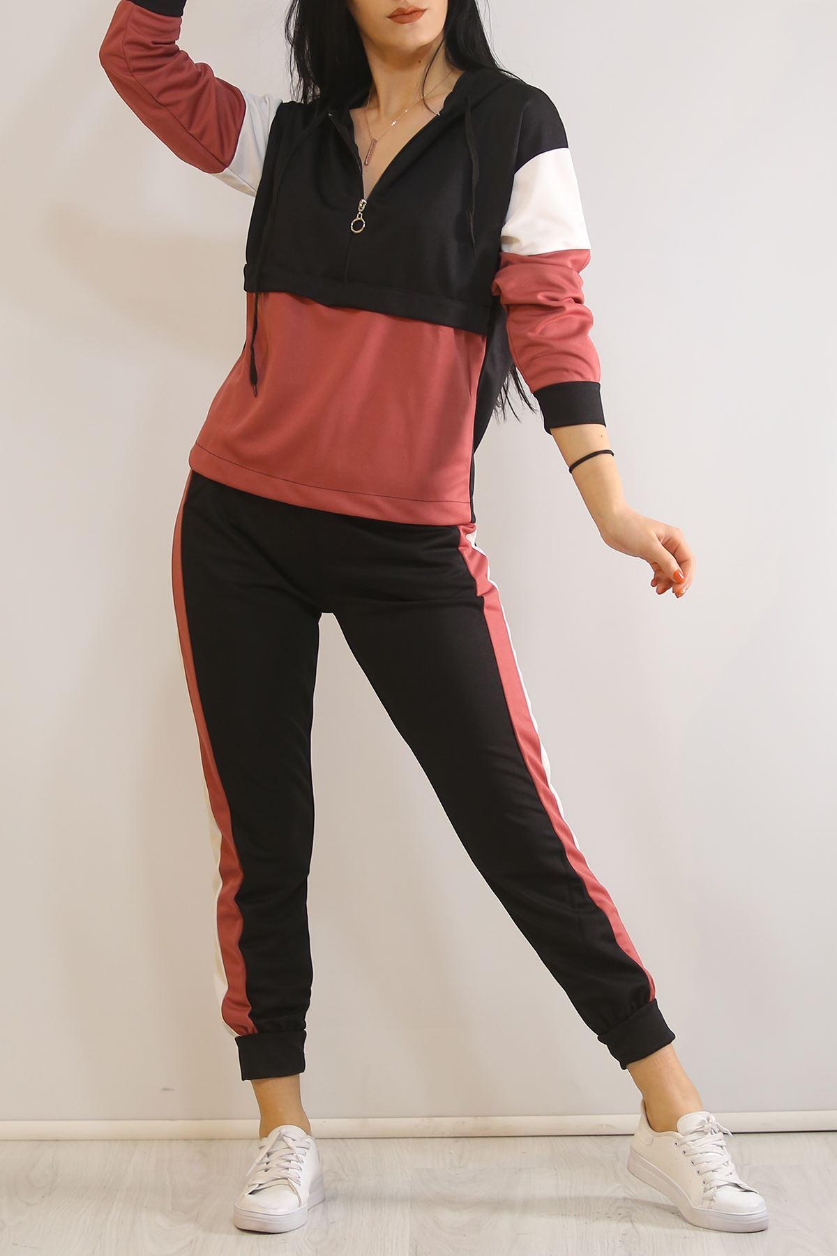 Kadın Eşofman Takımı Siyahpembe - 5325.1286.