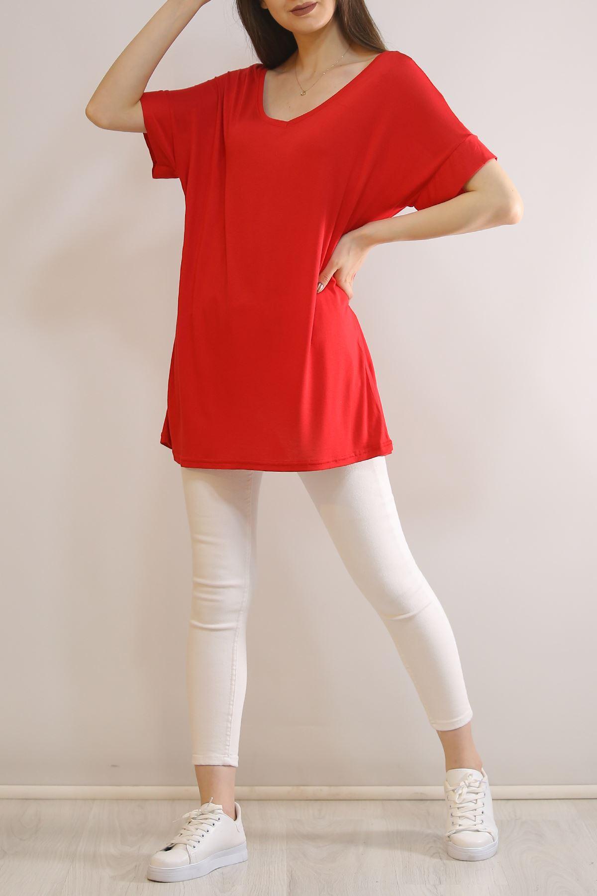 Kanat Baskılı Tişört Kırmızı - 5825.1092.