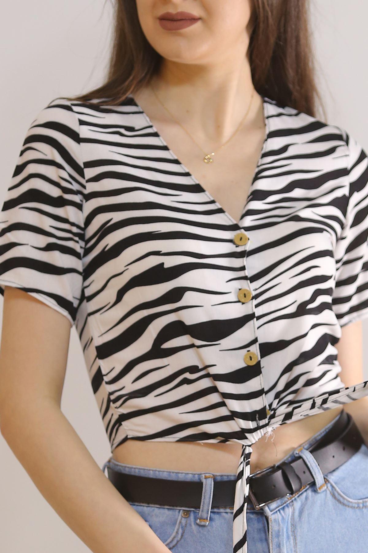Altı Bağlamalı Bluz Zebra - 5835.1153.