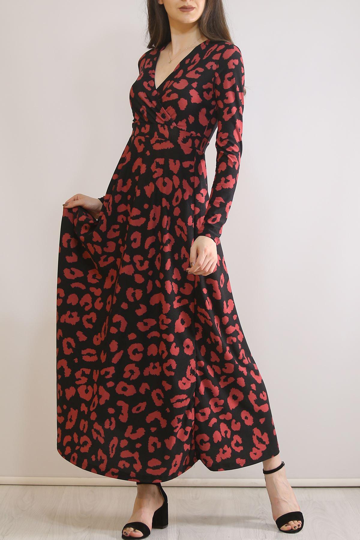 Çiçekli Elbise Fuşyadesenli - 4987.716.