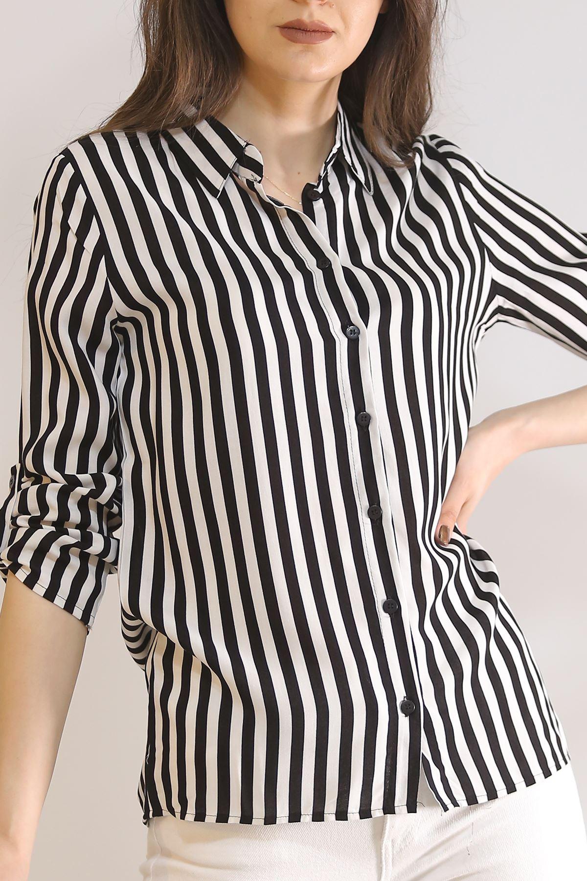Desenli Gömlek Siyahçizgili - 5087.128.