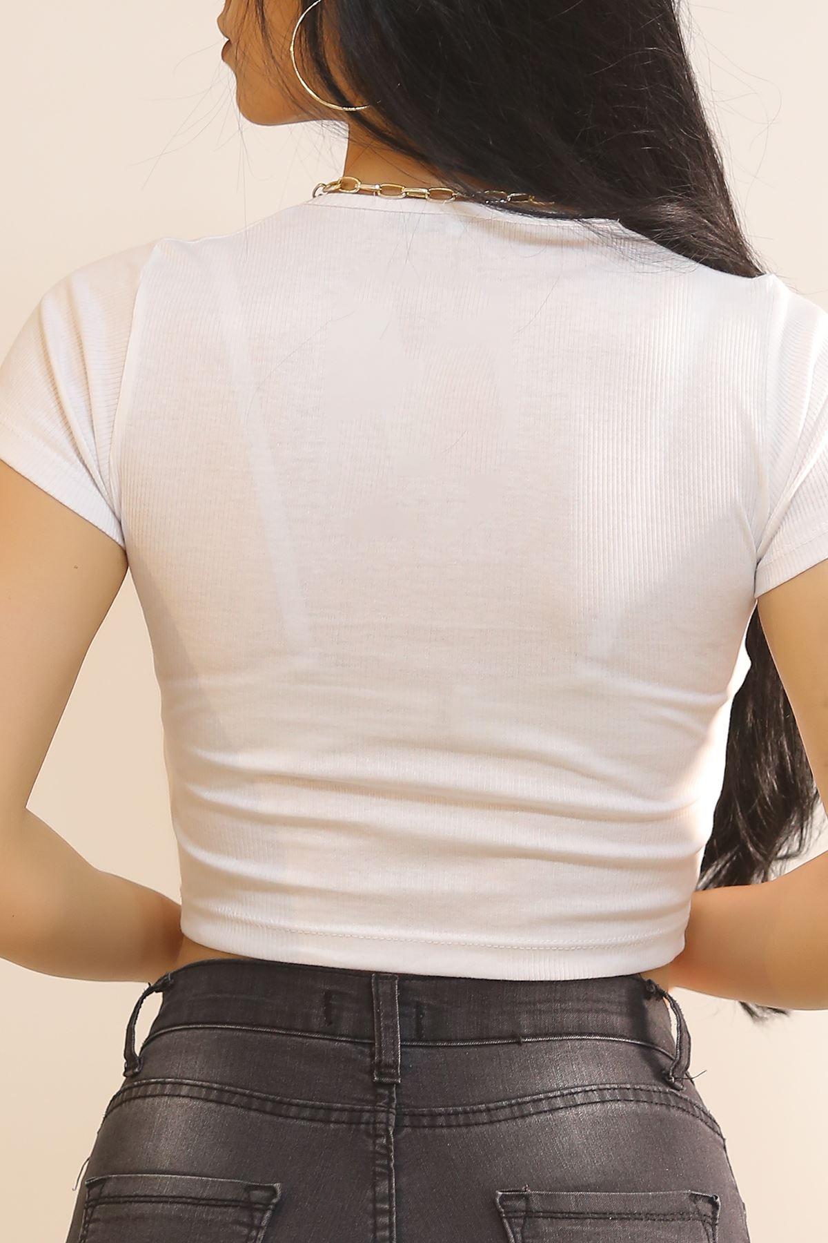 Kuşgözlü Bluz Beyaz - 5850.316.