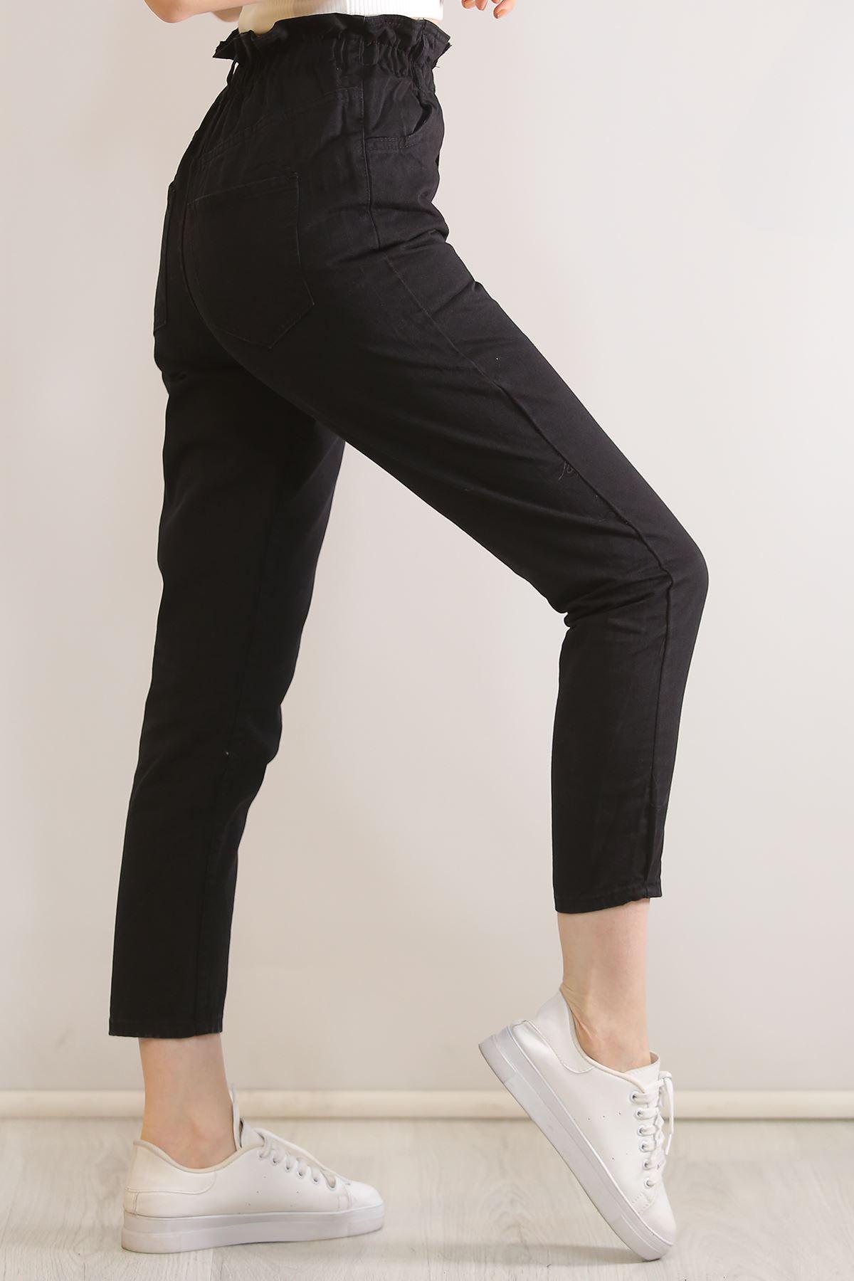 Çift Düğmeli  Kot Pantolon Siyah - 5862.299.