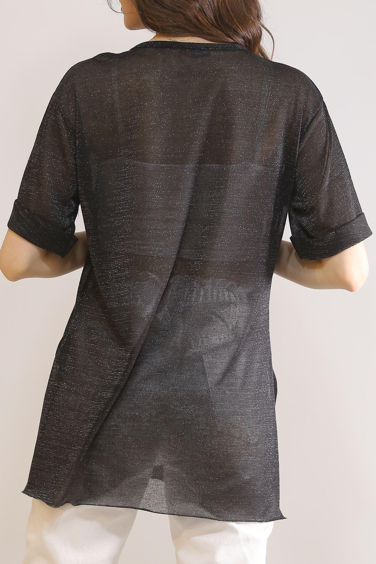 Transparan Tişört Siyah - 5847.1247.