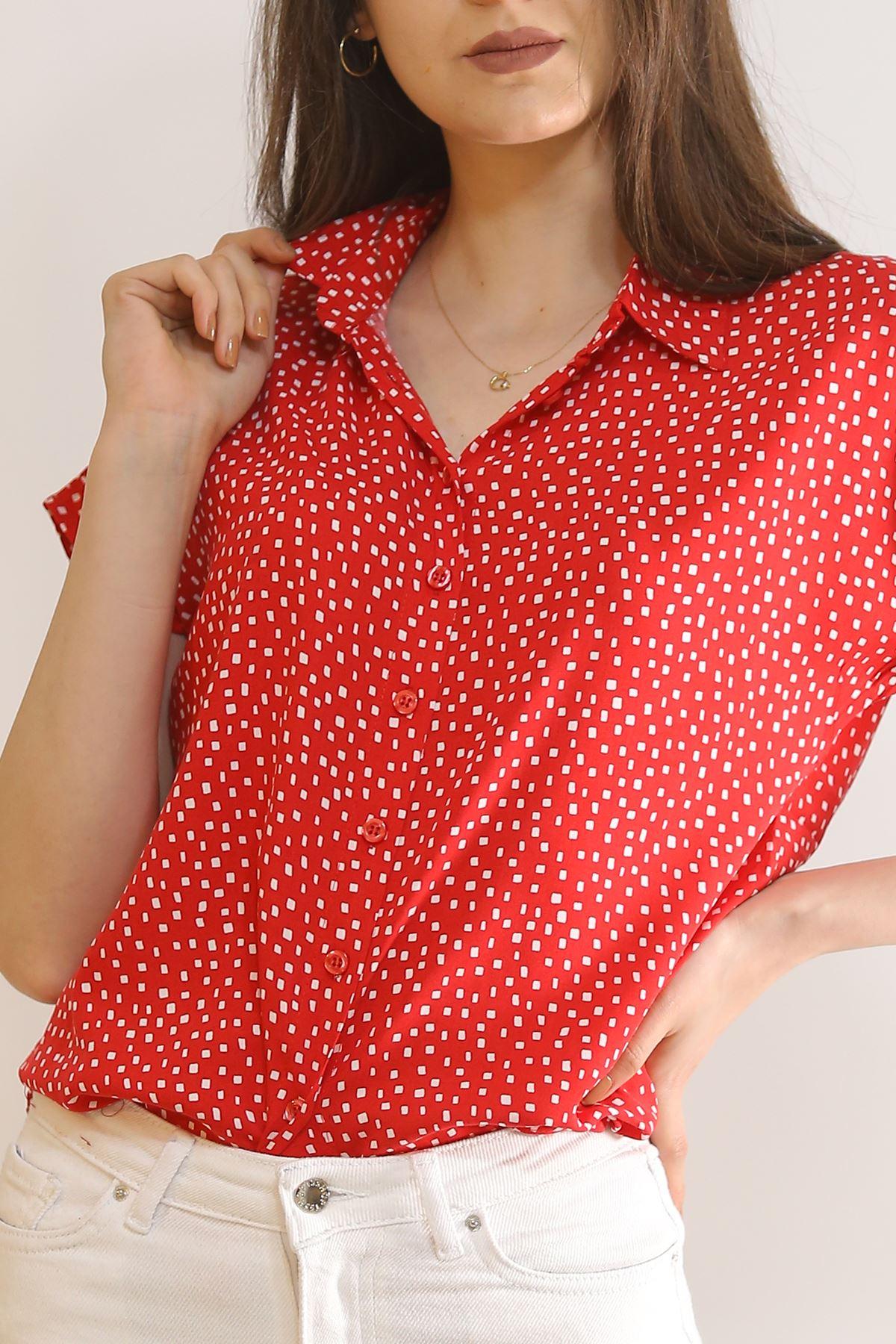 Yarasa Kol Gömlek Noktalıkırmızı - 1546.1095.