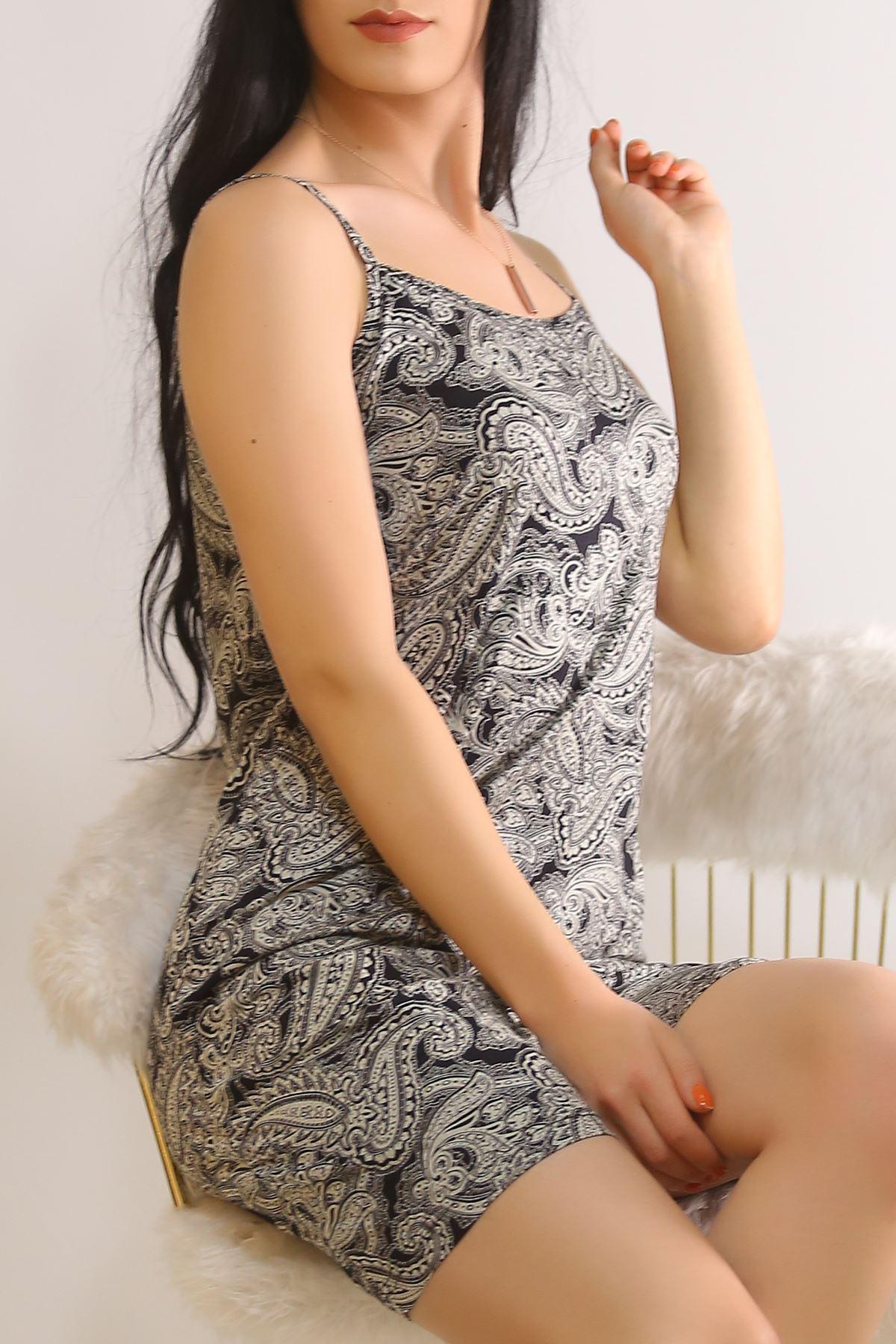 İp Askılı Elbise Grisiyah - 5508.1287.