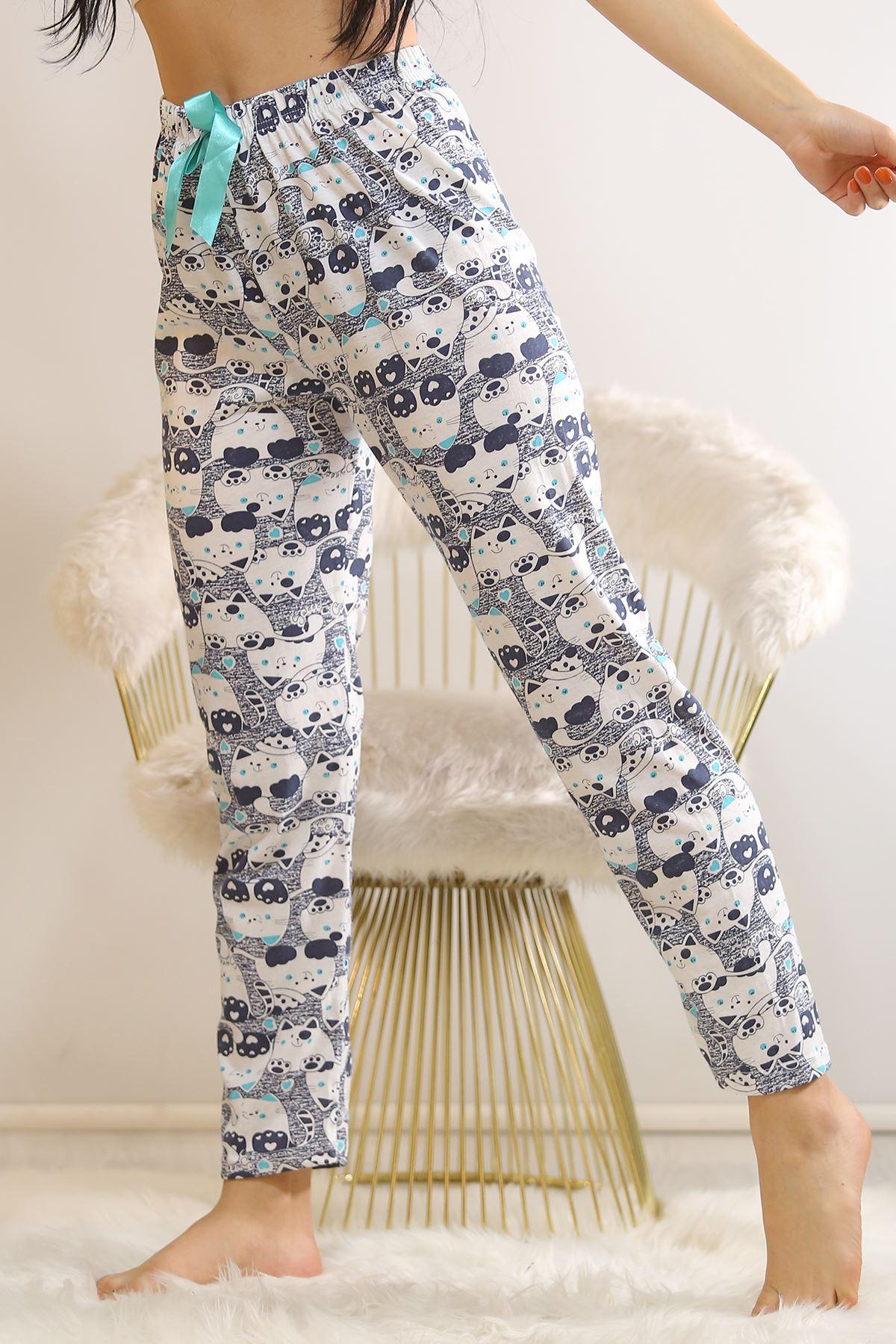 Desenli Pijama Altı Beyazlaci - 5518.919.