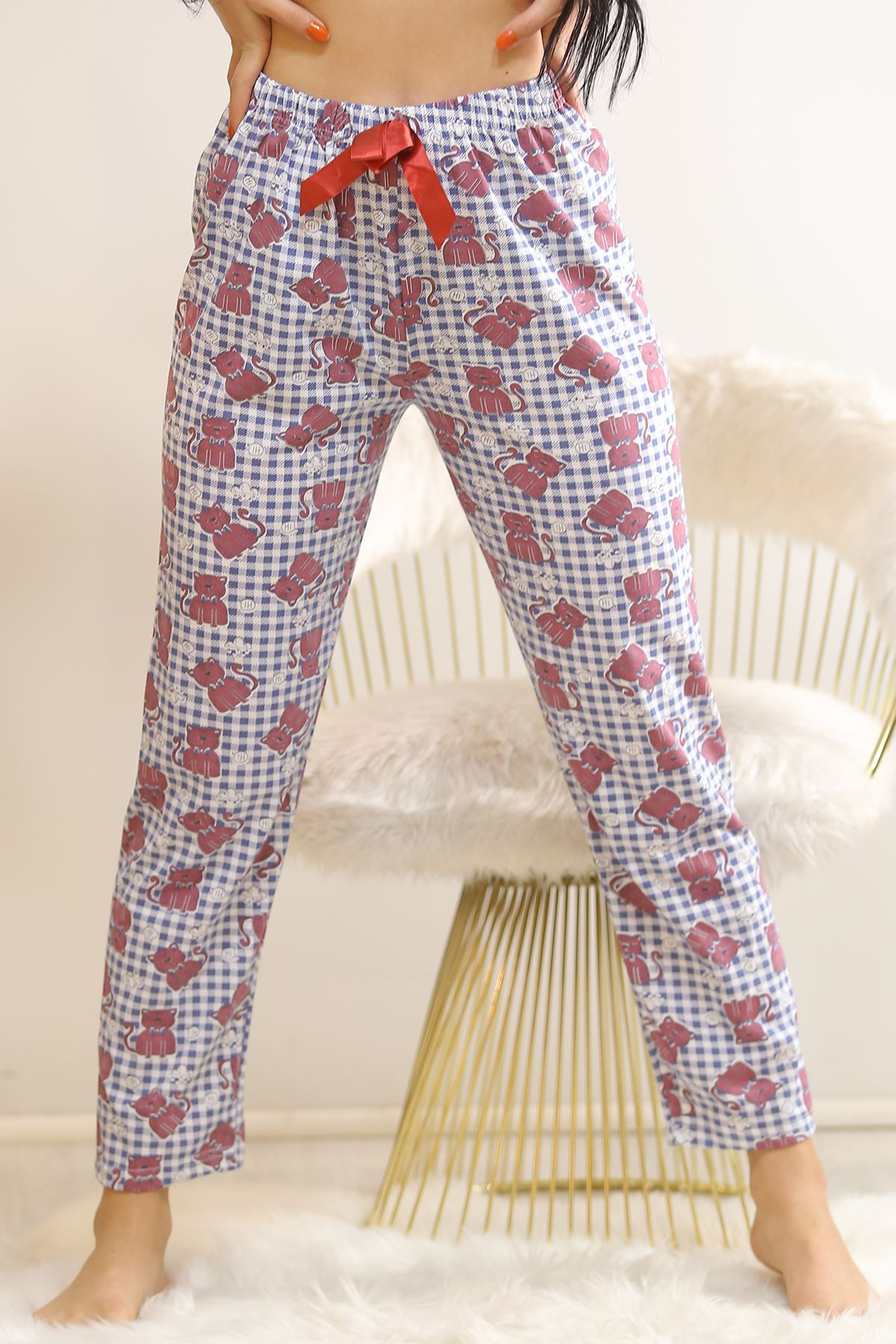 Desenli Pijama Altı Karelilaci - 5518.919.